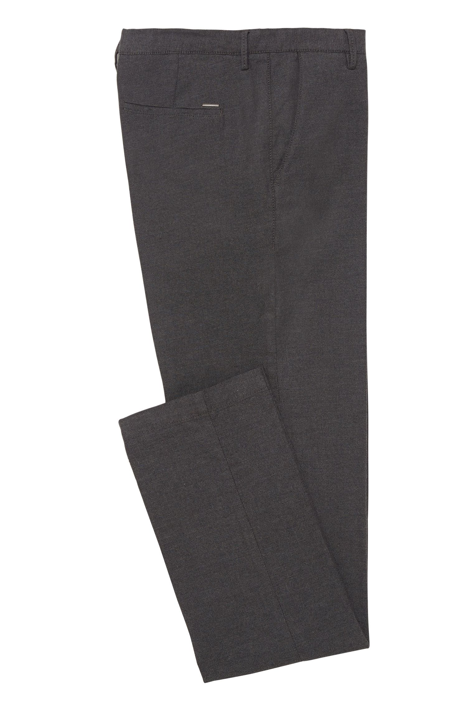 Strukturierte Slim-Fit Chino aus Stretch-Baumwolle: 'Rice3-W'