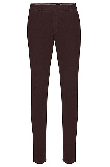 Tapered-Fit Hose aus Stretch-Baumwolle: 'Kaito3-D', Braun