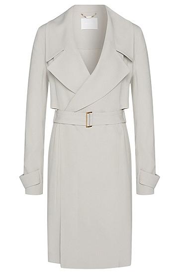 Mantel mit asymmetrischem Schulterkoller: 'Celiana', Hellbeige
