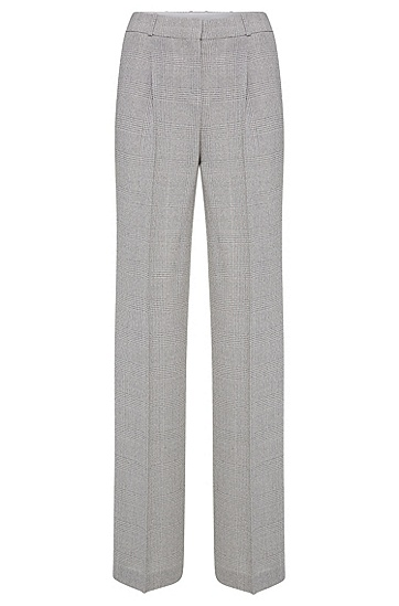 Relaxed-Fit Hose aus Schurwolle mit Glencheck-Muster: 'Tewena', Gemustert