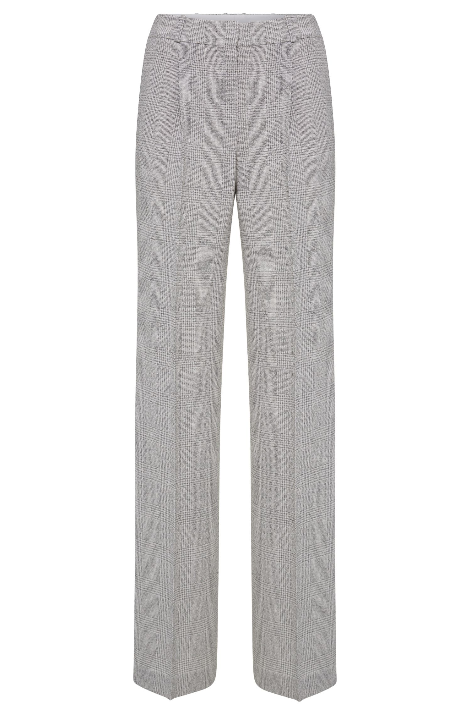 Relaxed-Fit Hose aus Schurwolle mit Glencheck-Muster: 'Tewena'
