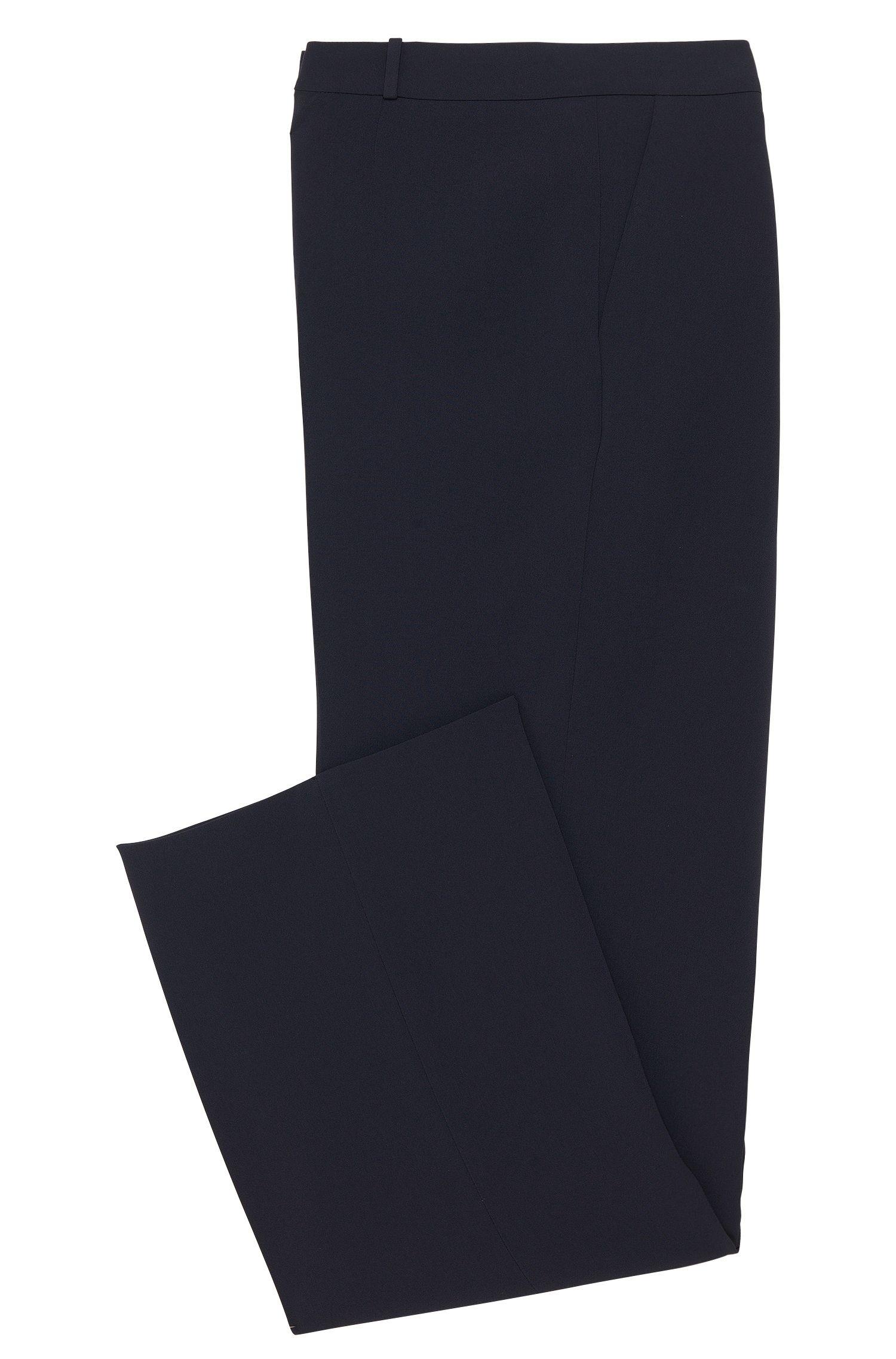 Relaxed-fit broek met scherpe vouwen: 'Tewena'
