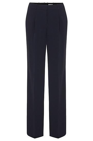 Relaxed-fit broek met scherpe vouwen: 'Tewena', Donkerblauw