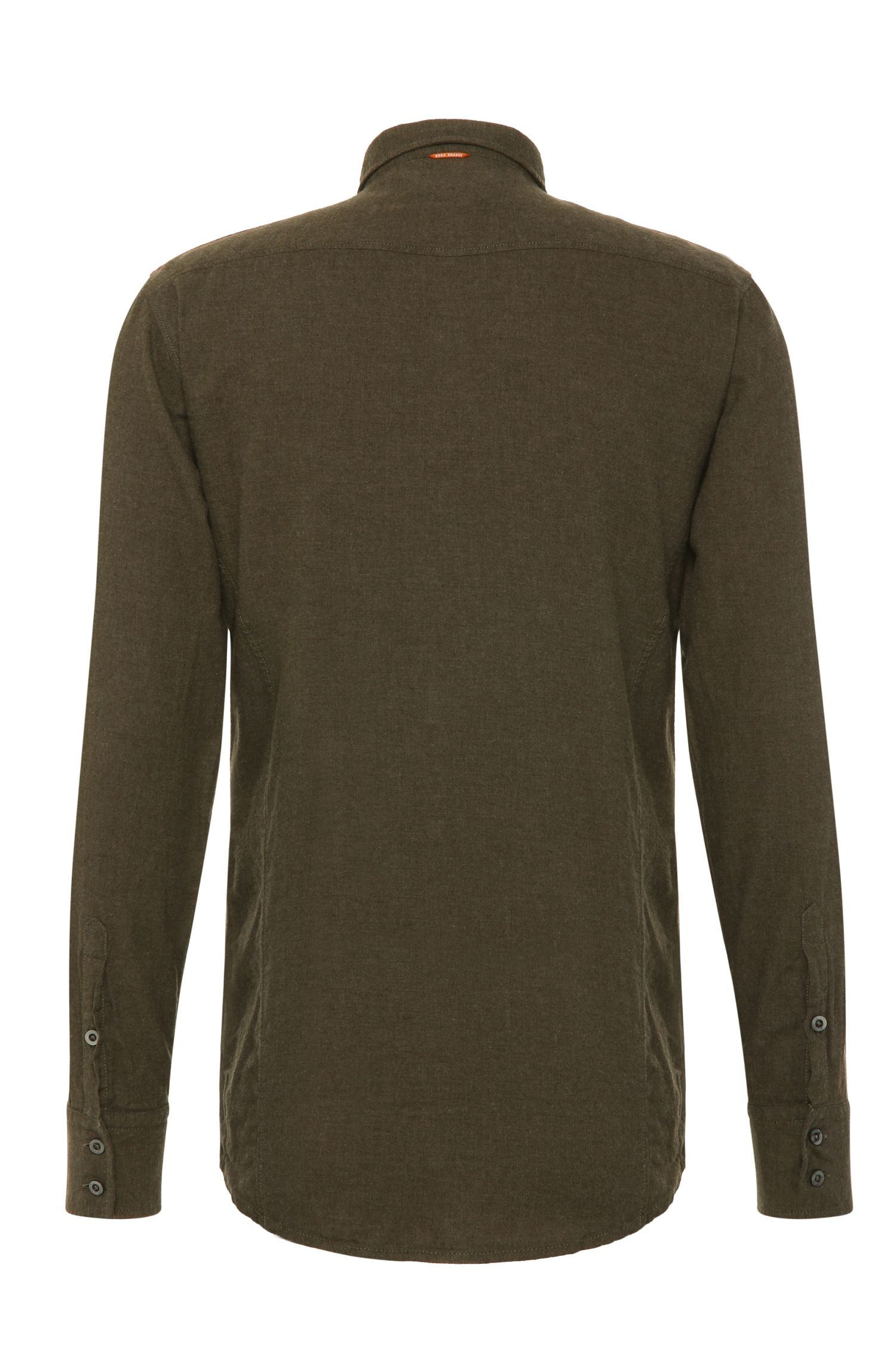 Slim-Fit Hemd aus reiner Baumwolle: ´EdoslimE`