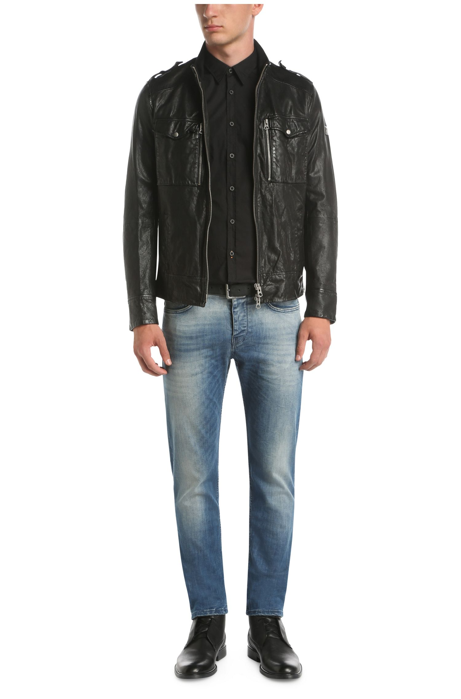 Slim-Fit Hemd aus elastischer Baumwolle: ´EdoslimE`