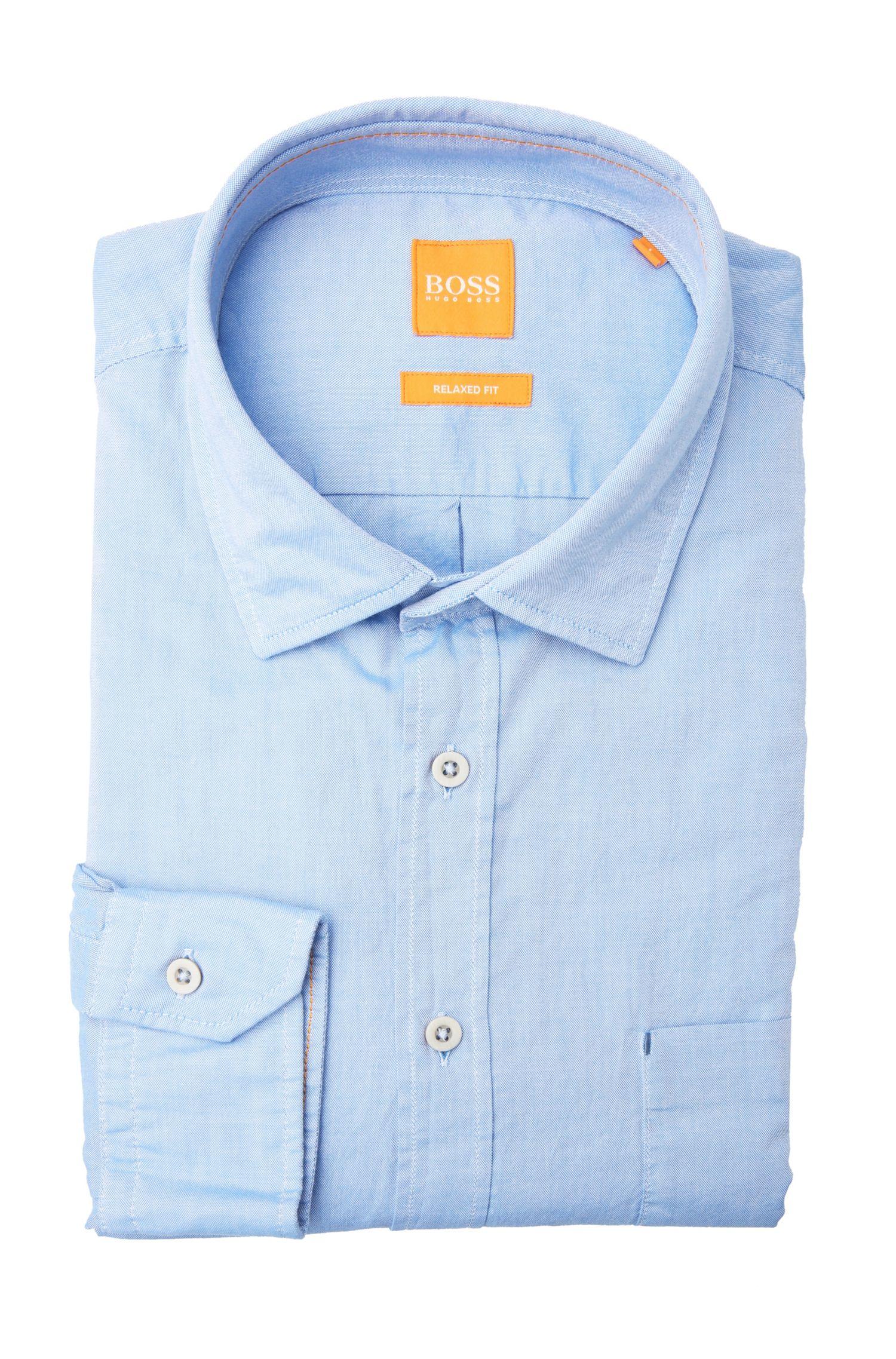 Comfort-Fit Hemd aus texturierter Baumwolle: ´ElooseE`