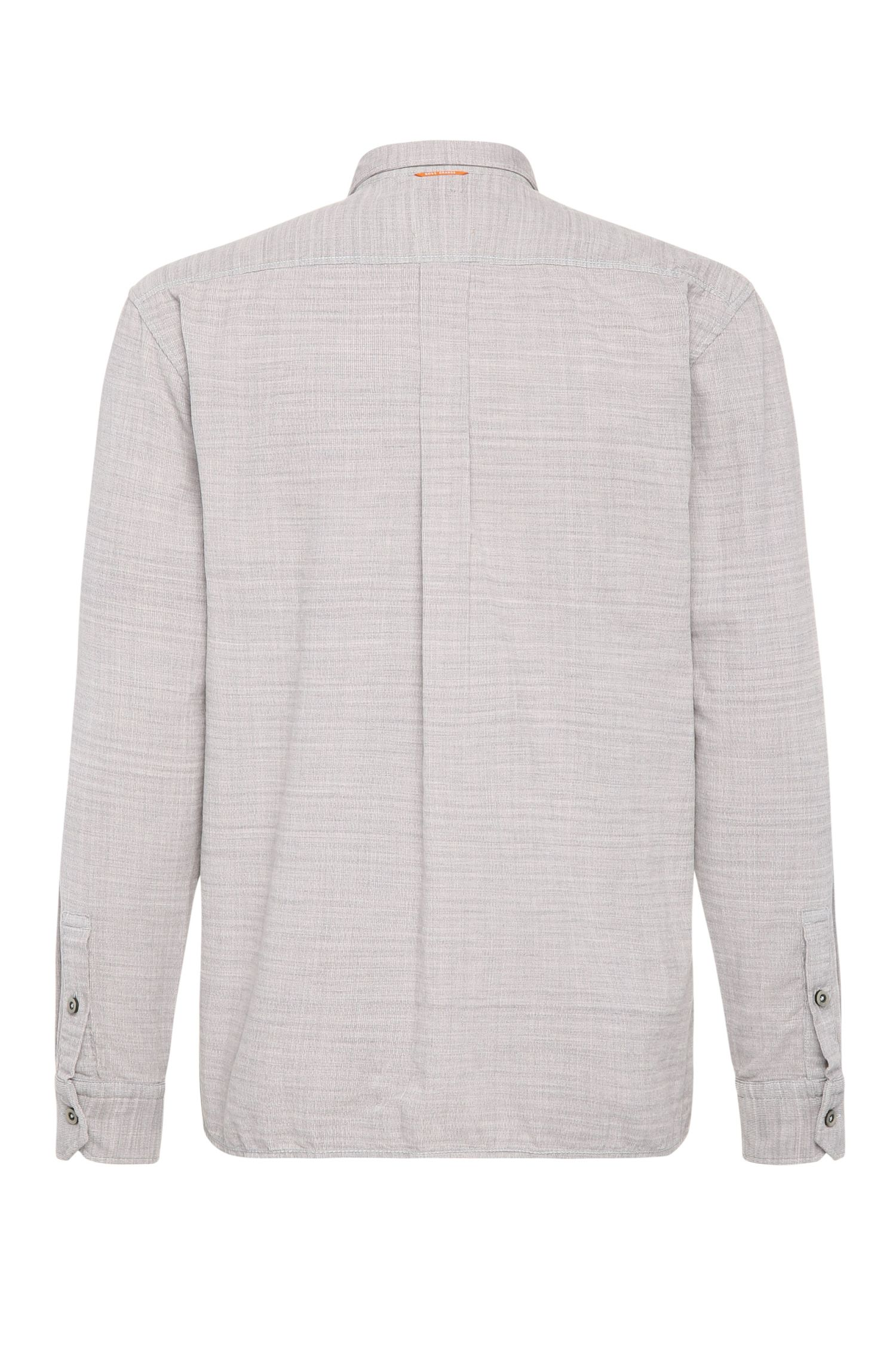 Relaxed-fit overhemd van gestructureerde katoen: 'ElooseE'