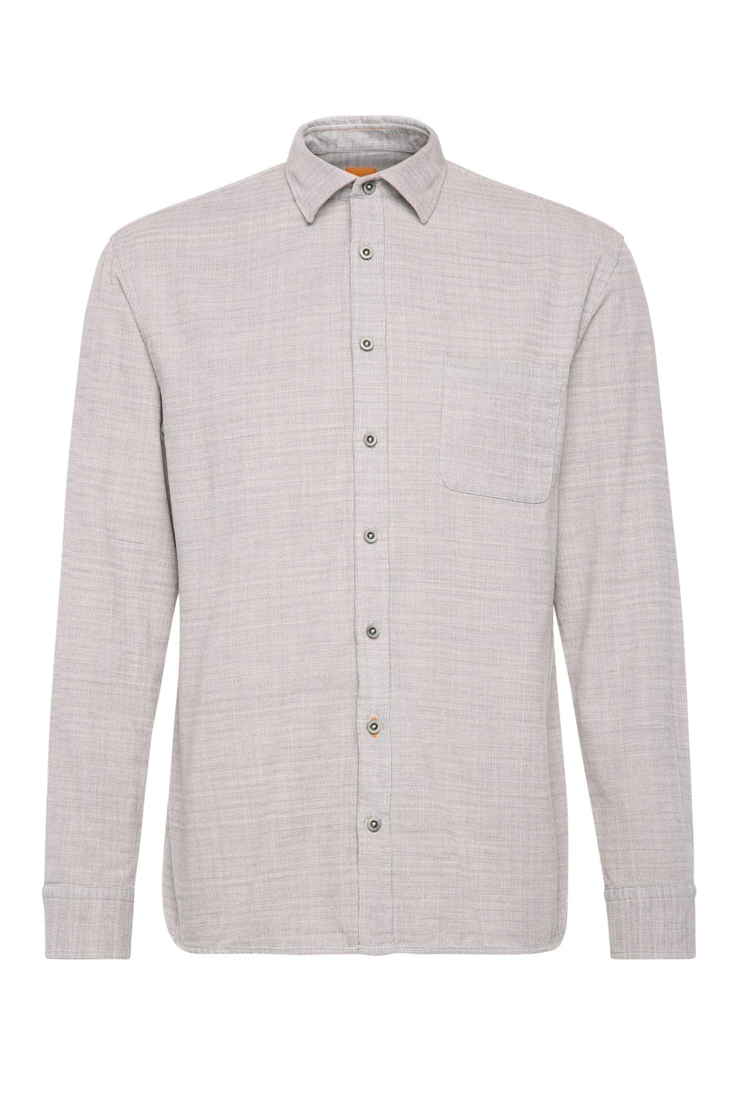 Relaxed-Fit Hemd aus strukturierter Baumwolle: ´ElooseE`