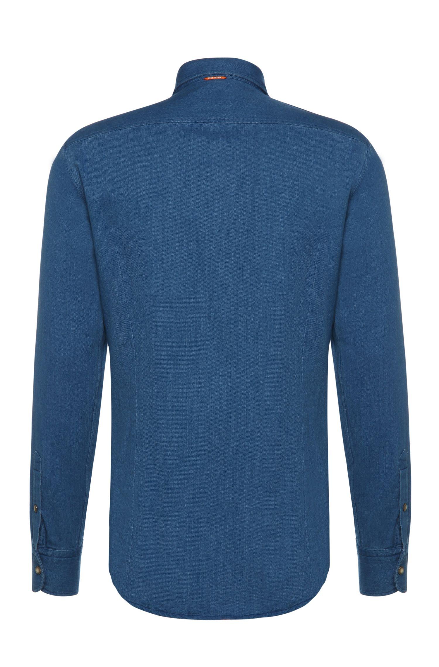 Verwaschenes Slim-Fit Hemd aus Baumwolle: ´CadettoE`