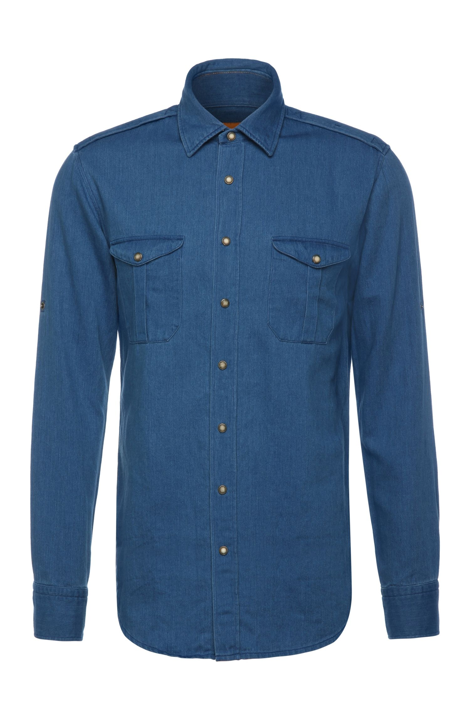 Faded slim-fit shirt in cotton: 'CadettoE'