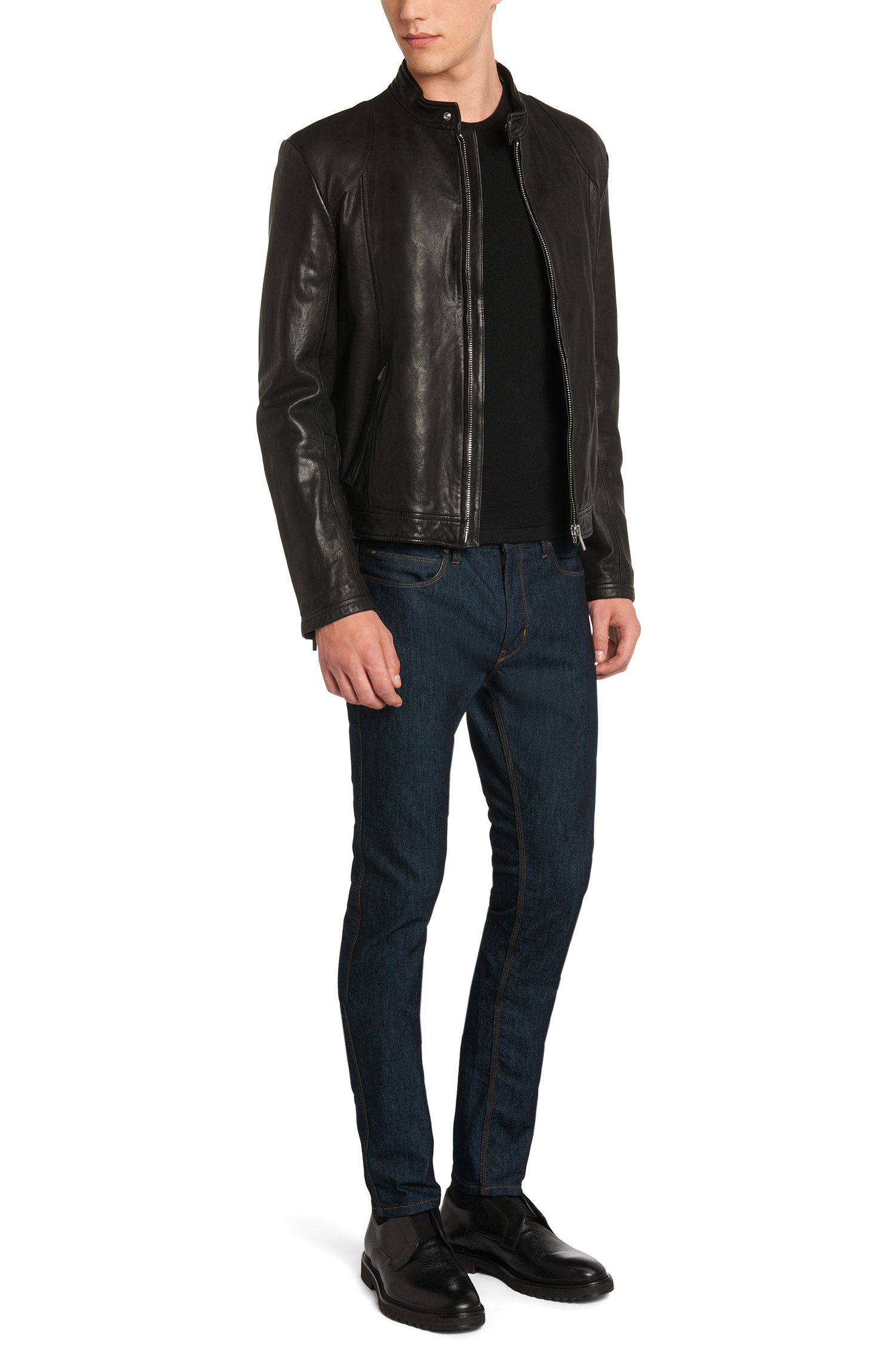Atmungsaktive Skinny-Fit Jeans aus Baumwoll-Mix: 'HUGO 734'