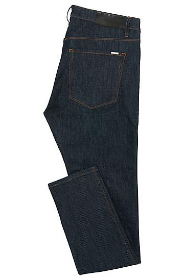 Atmungsaktive Skinny-Fit Jeans aus Baumwoll-Mix: 'HUGO 734', Dunkelblau