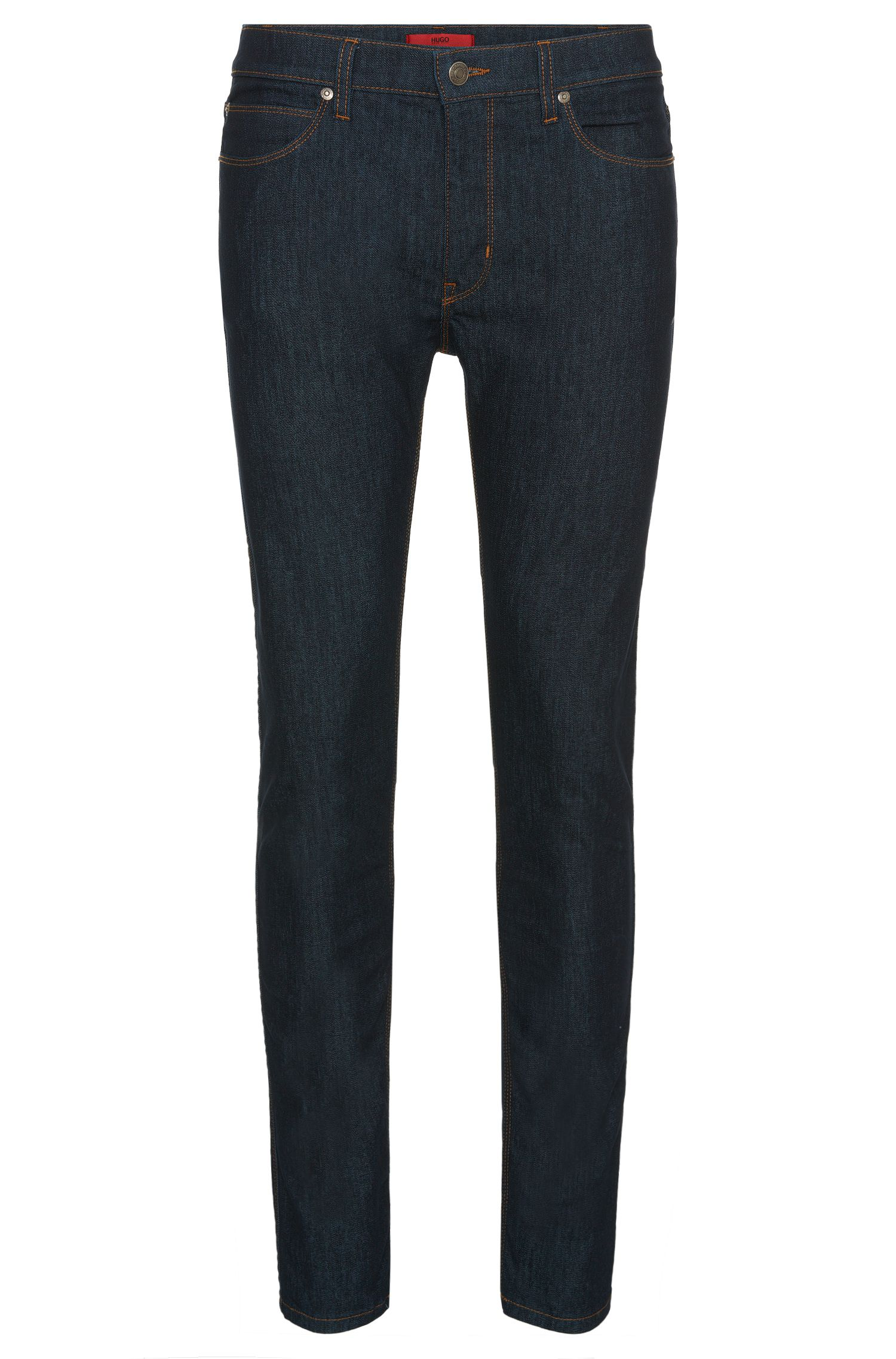 Breathable skinny-fit jeans in cotton blend: 'HUGO 734'