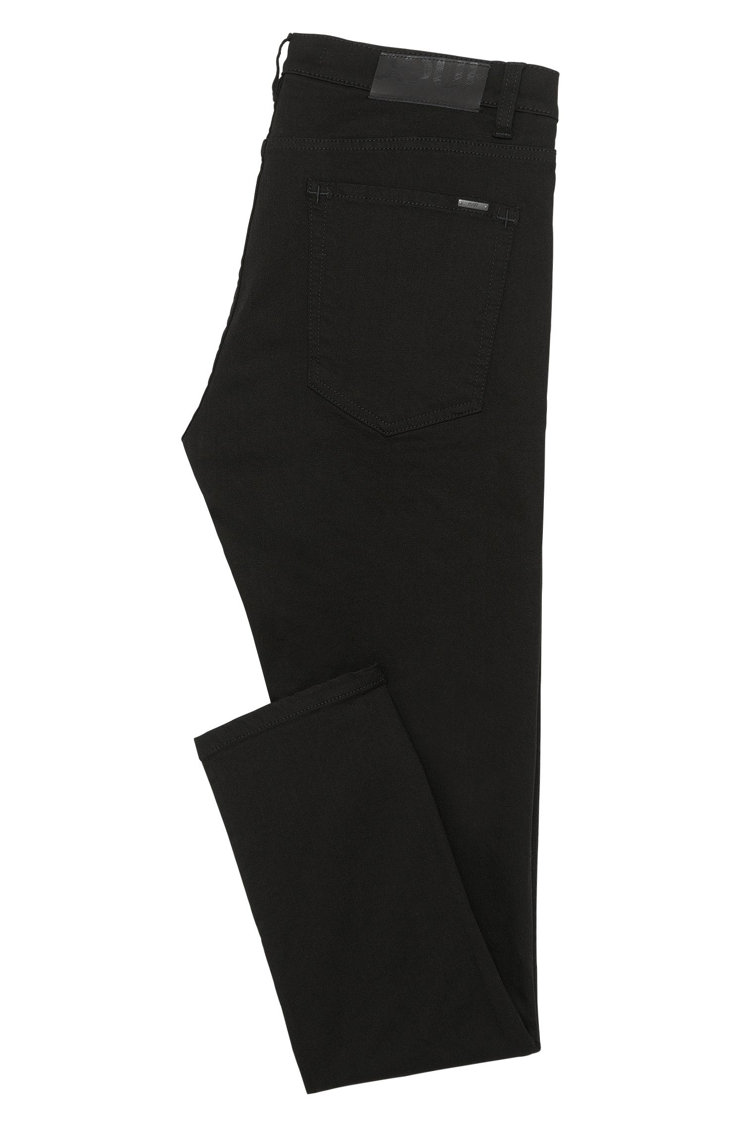 Unifarbene Skinny-Fit Jeans aus Baumwoll-Mix: 'HUGO 131'