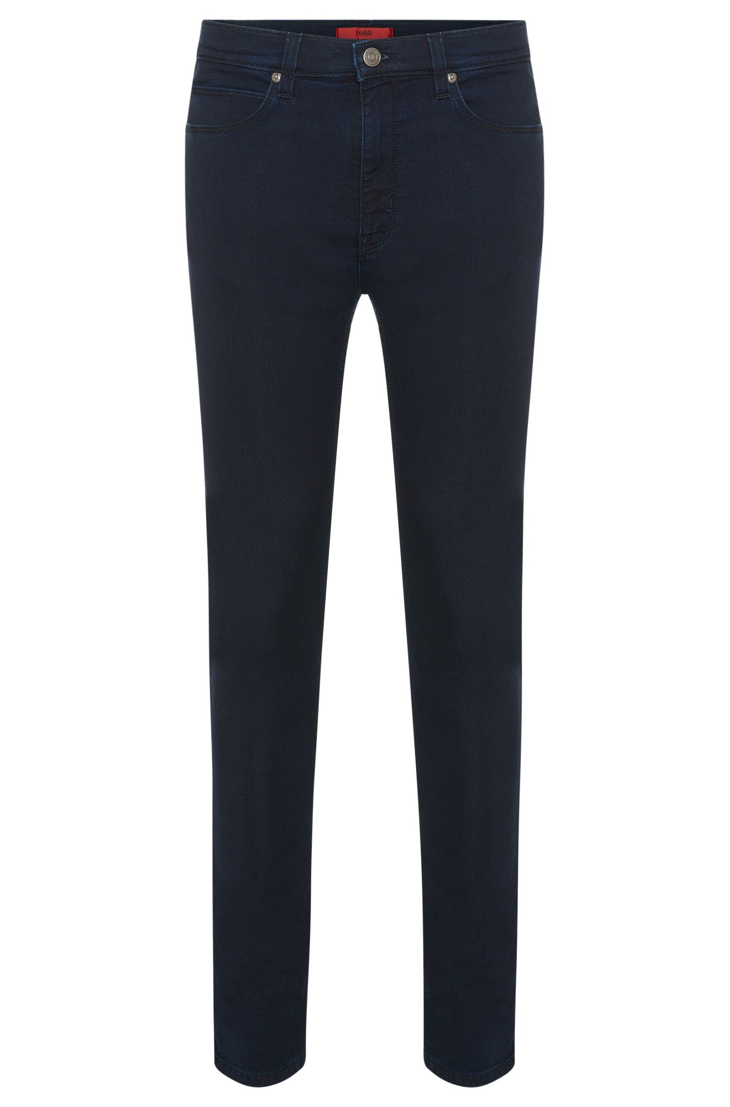 Skinny-fit jeans in a stretchy cotton blend: 'HUGO 734'