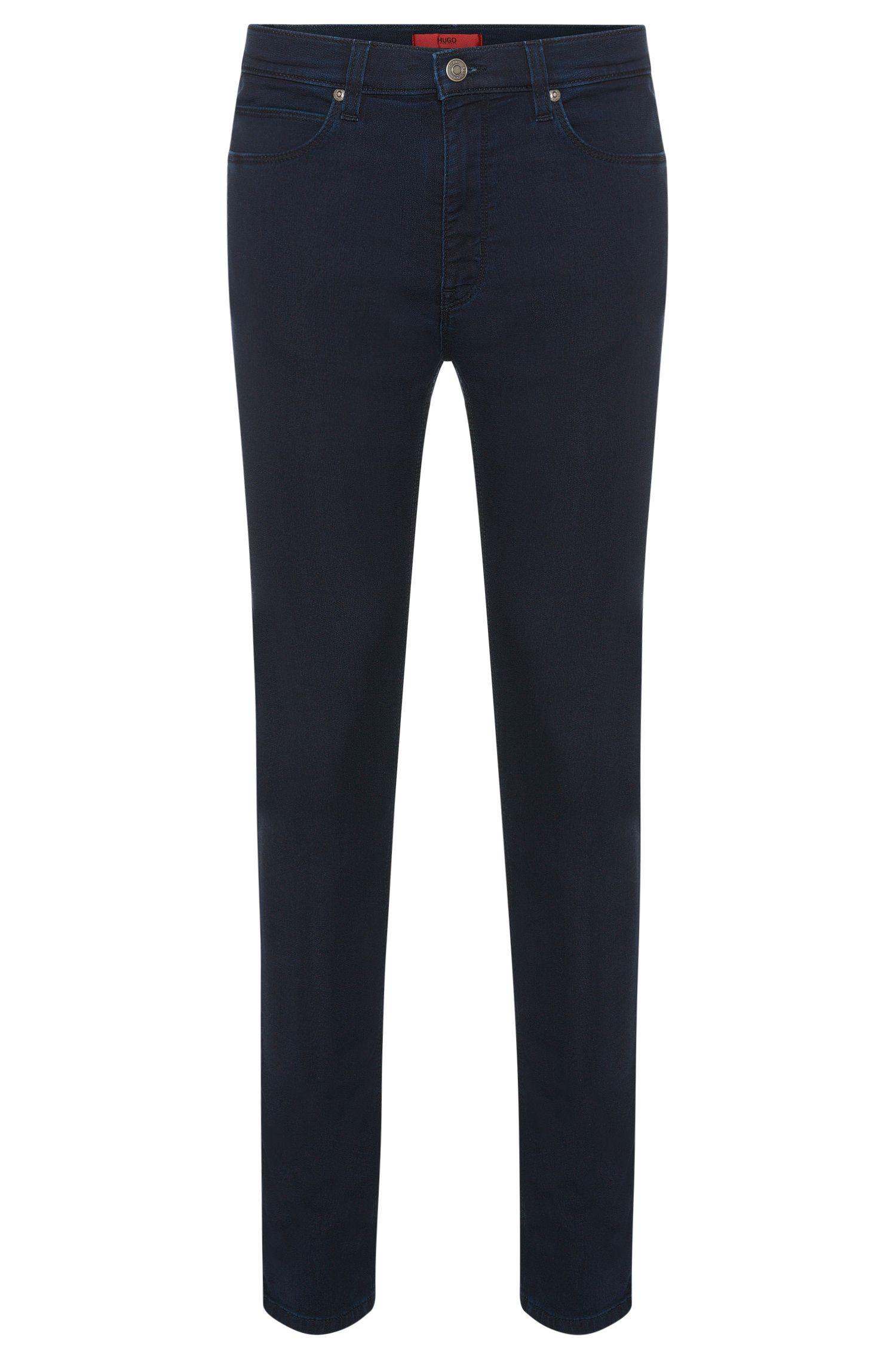 Skinny-fit jeans van een elastische katoenmix: 'HUGO 734'