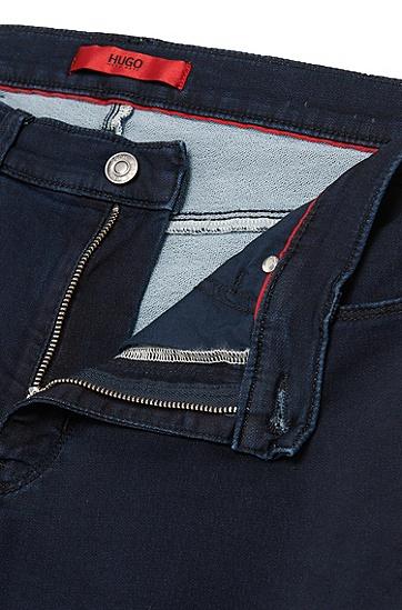 Skinny-Fit Jeans aus elastischem Baumwoll-Mix: 'HUGO 734', Dunkelblau