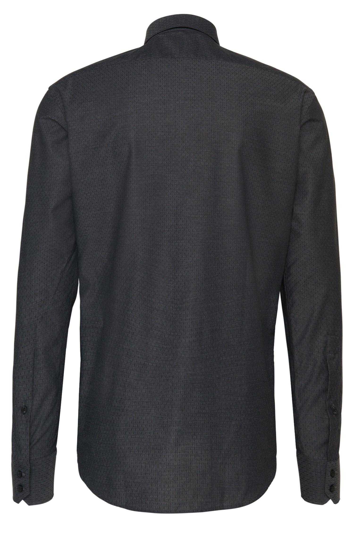 Gemustertes Regular-Fit Hemd aus Baumwolle: 'C-Enzo'