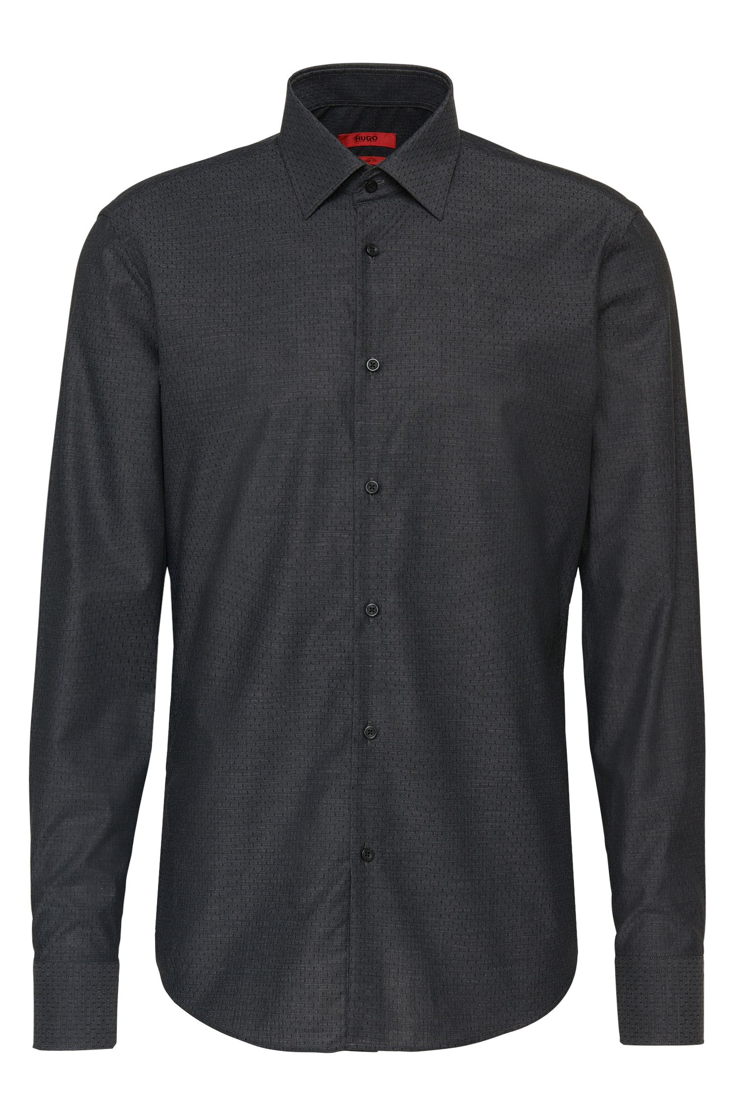 Patterned regular-fit shirt in cotton: 'C-Enzo'