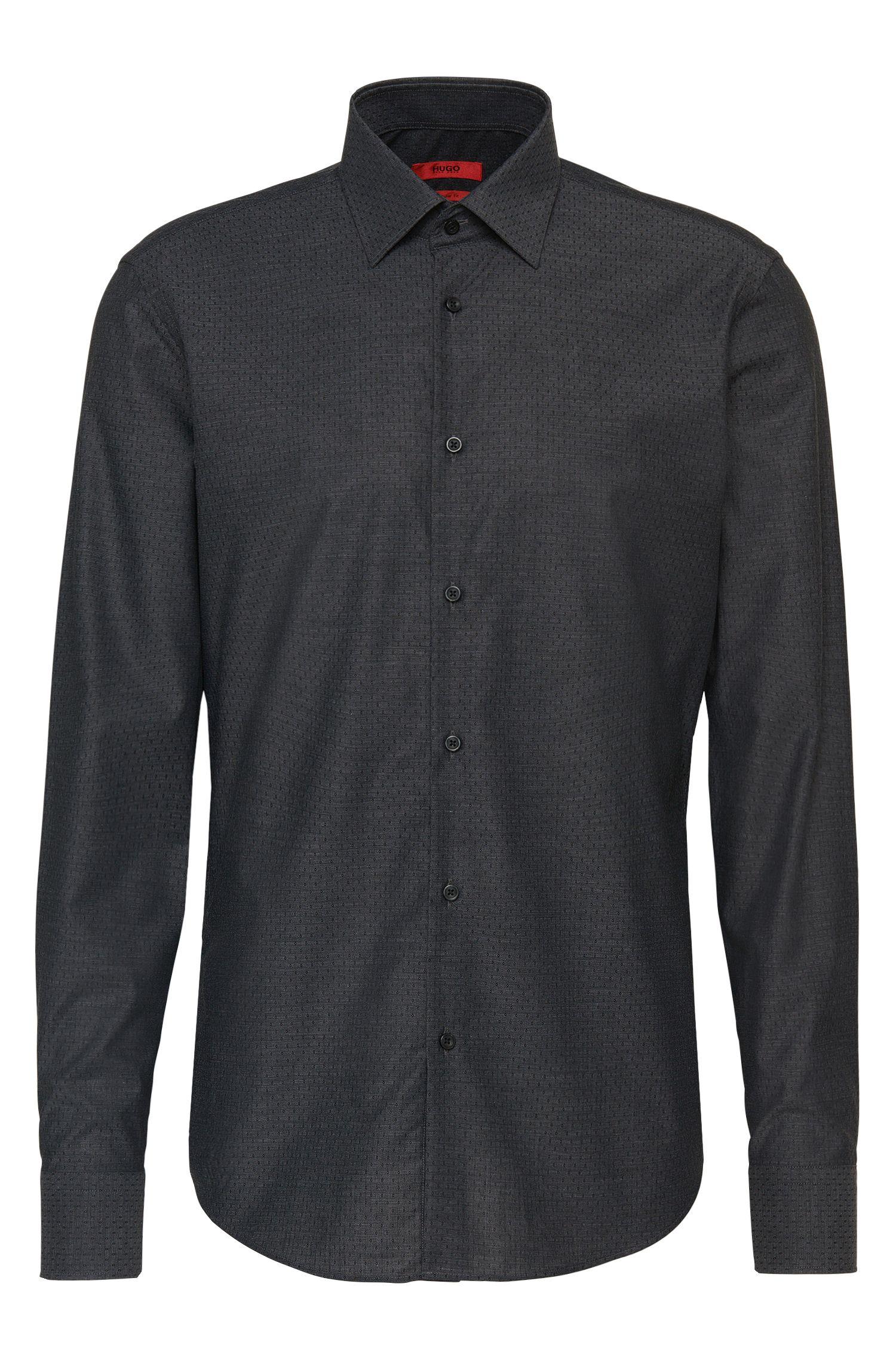 Regular-fit overhemd van katoen met dessin: 'C-Enzo'