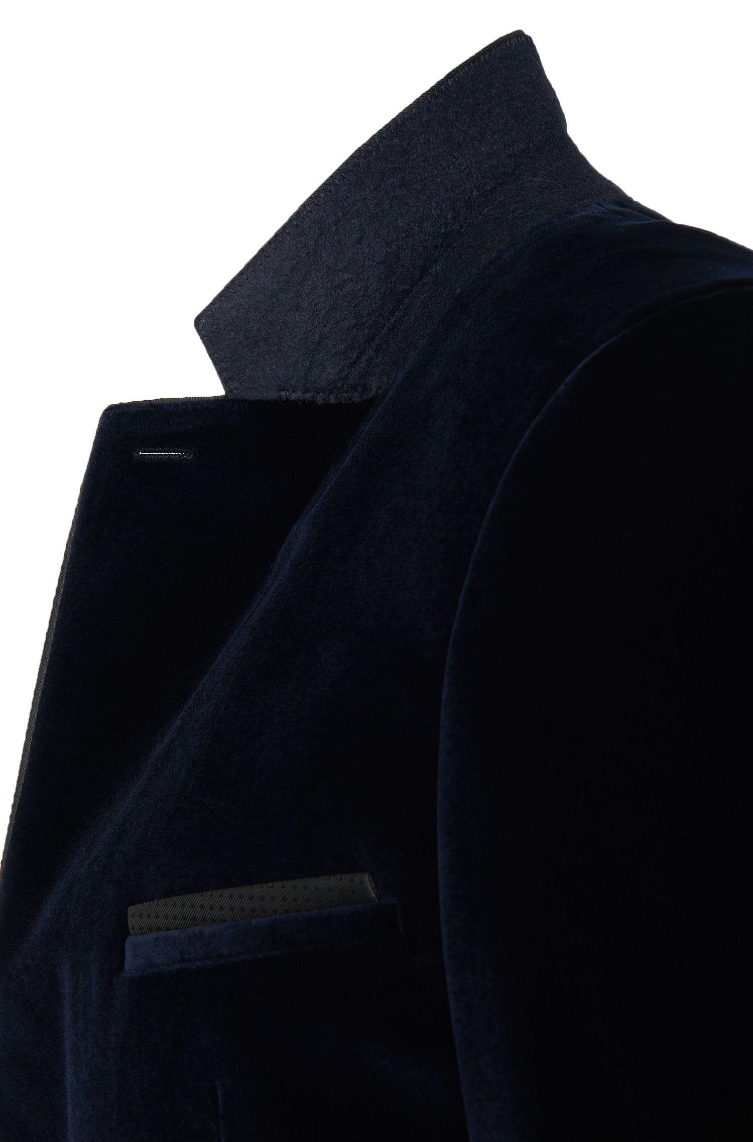 Veste de costume extra Slim-Fit en coton avec passementeries en soie mélangée: «Aliks»