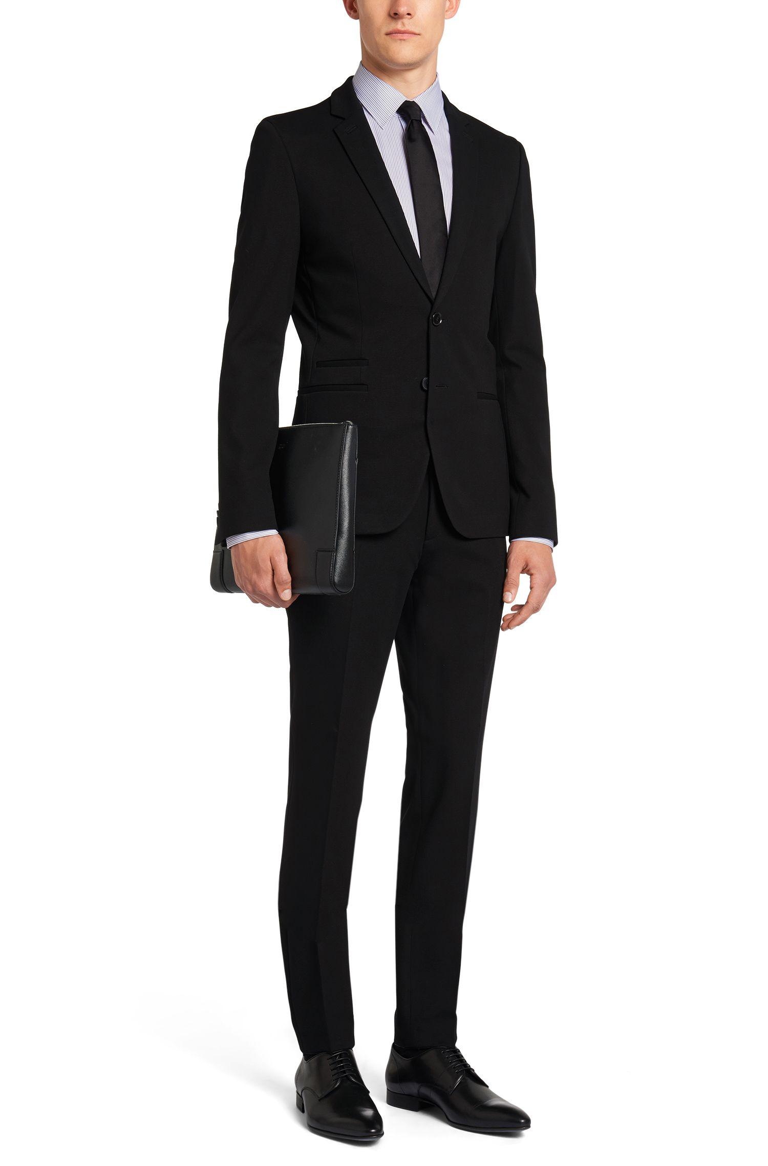 Chemise Regular Fit en coton à rayures bicolores: «C-Enzo»