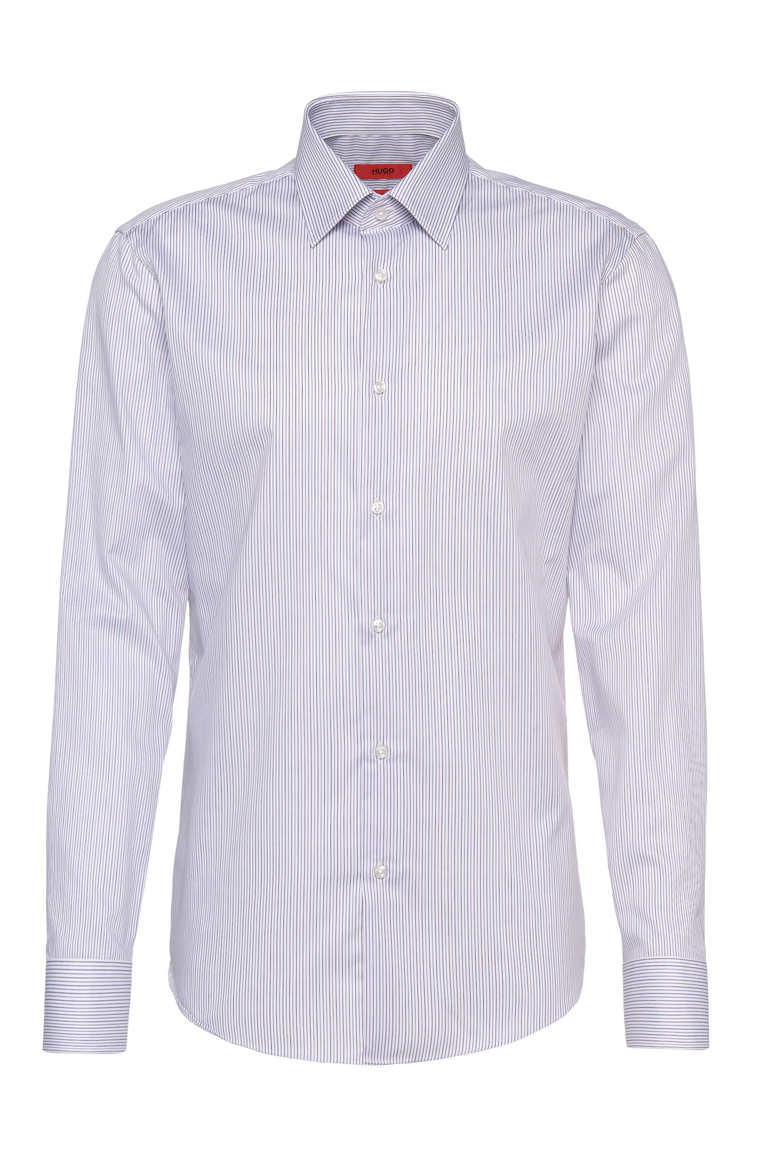 Regular-fit cotton shirt in 2-tone stripes: 'C-Enzo'