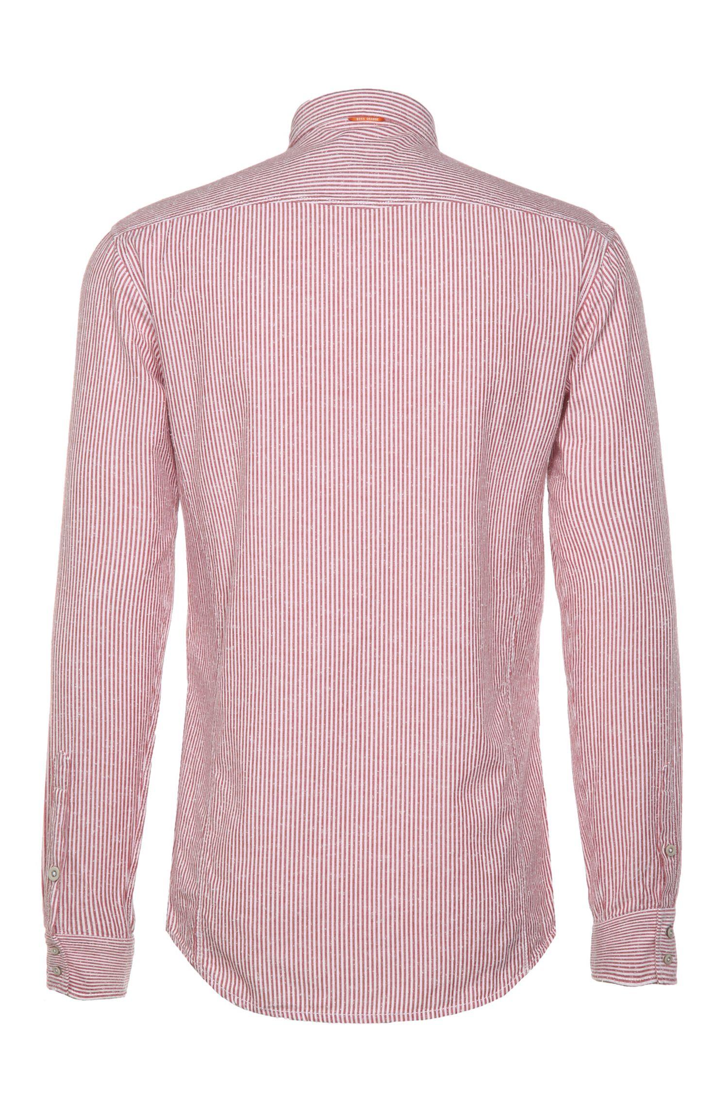 Gestreiftes Slim-Fit Hemd aus reiner Baumwolle: ´EdoslimE`