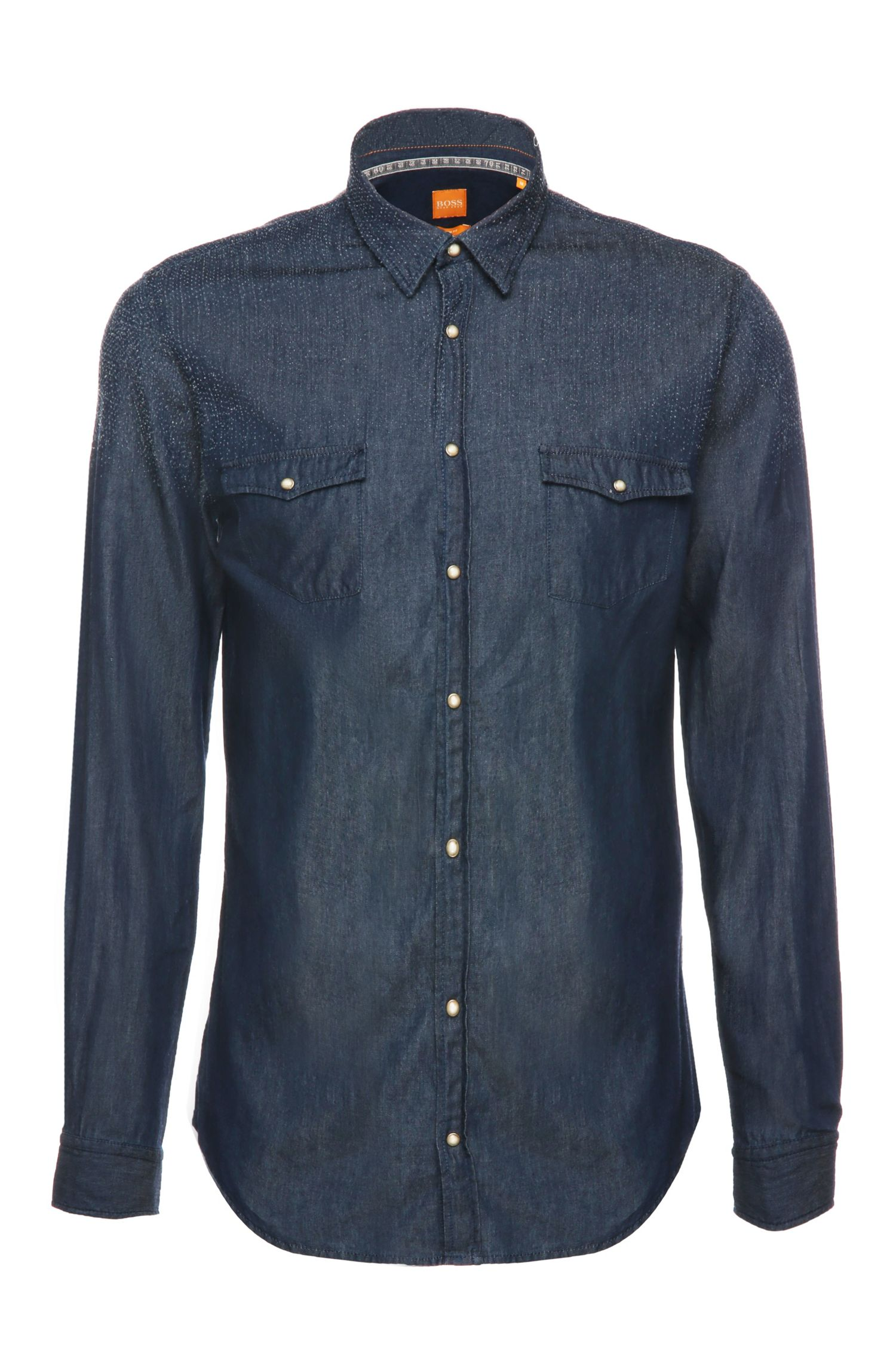Slim-fit jeans shirt in cotton: 'EdoslimE'
