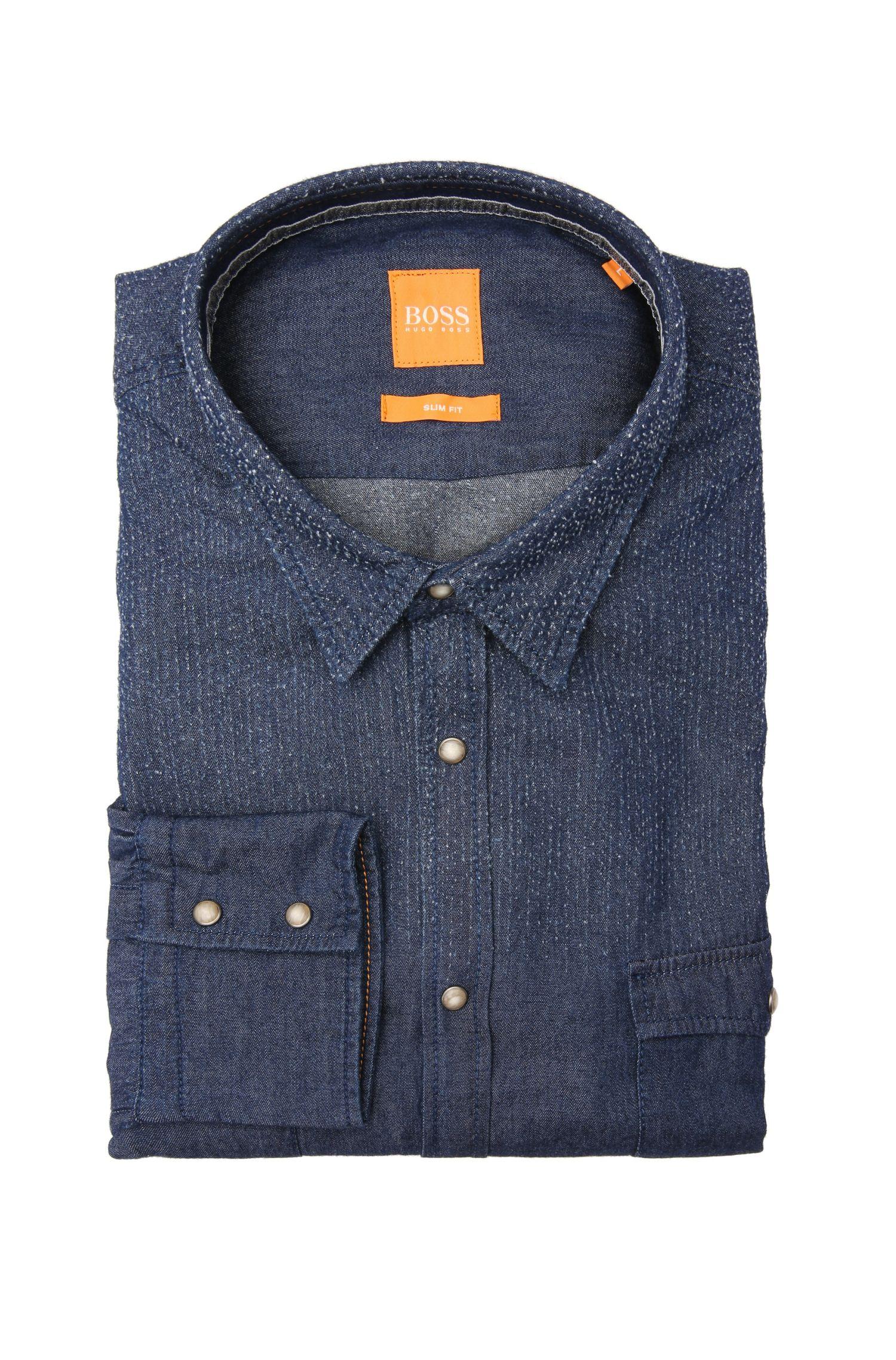 Slim-Fit Jeanshemd aus Baumwolle: ´EdoslimE`