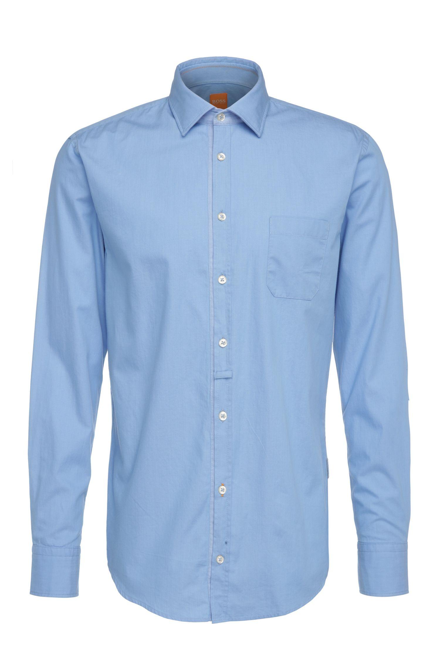 Slim-fit overhemd van lichte katoen: 'EslimE_1'