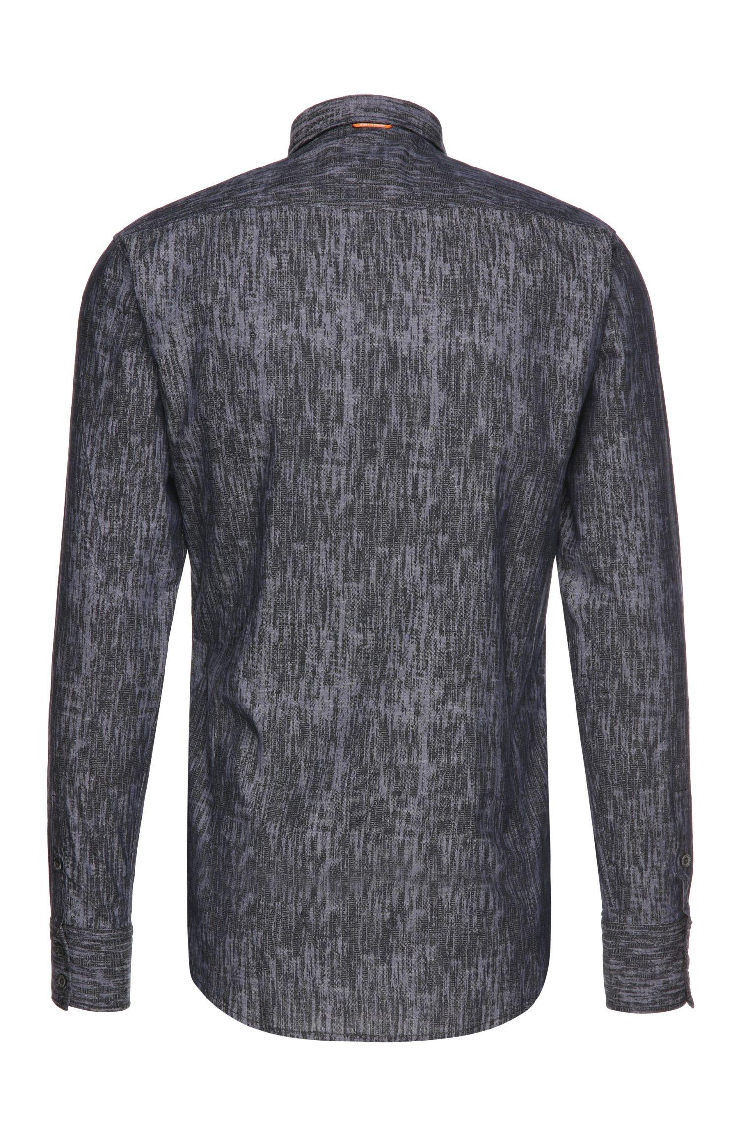 Gemustertes Slim-Fit Hemd aus Baumwolle mit Textur: ´EdoslimE`