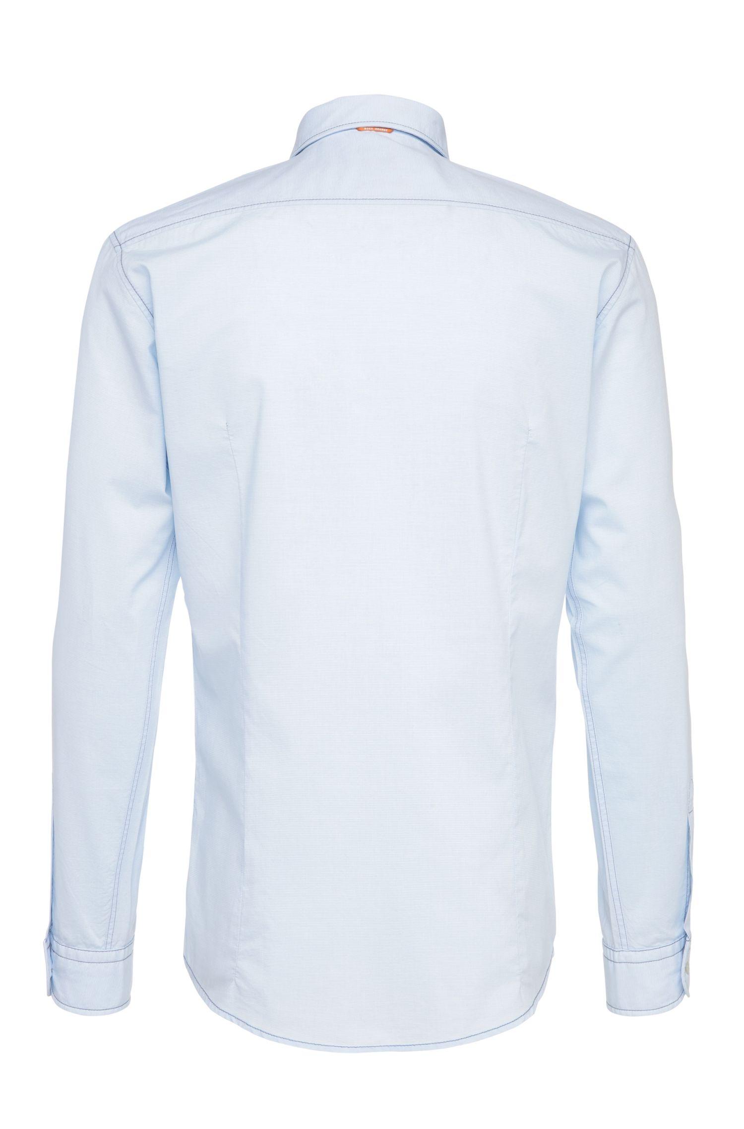 Fein gestreiftes Slim-Fit Hemd aus Baumwolle: ´EnameE`