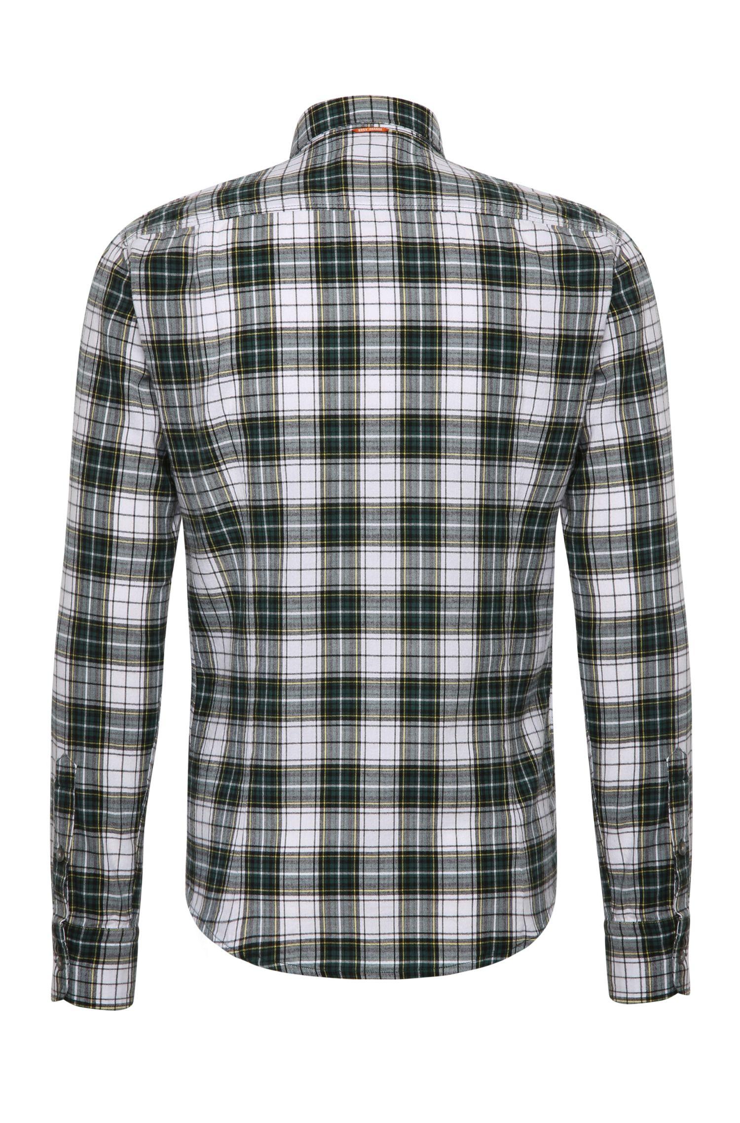 Chemise à carreaux Slim Fit en coton: «CadettoE»