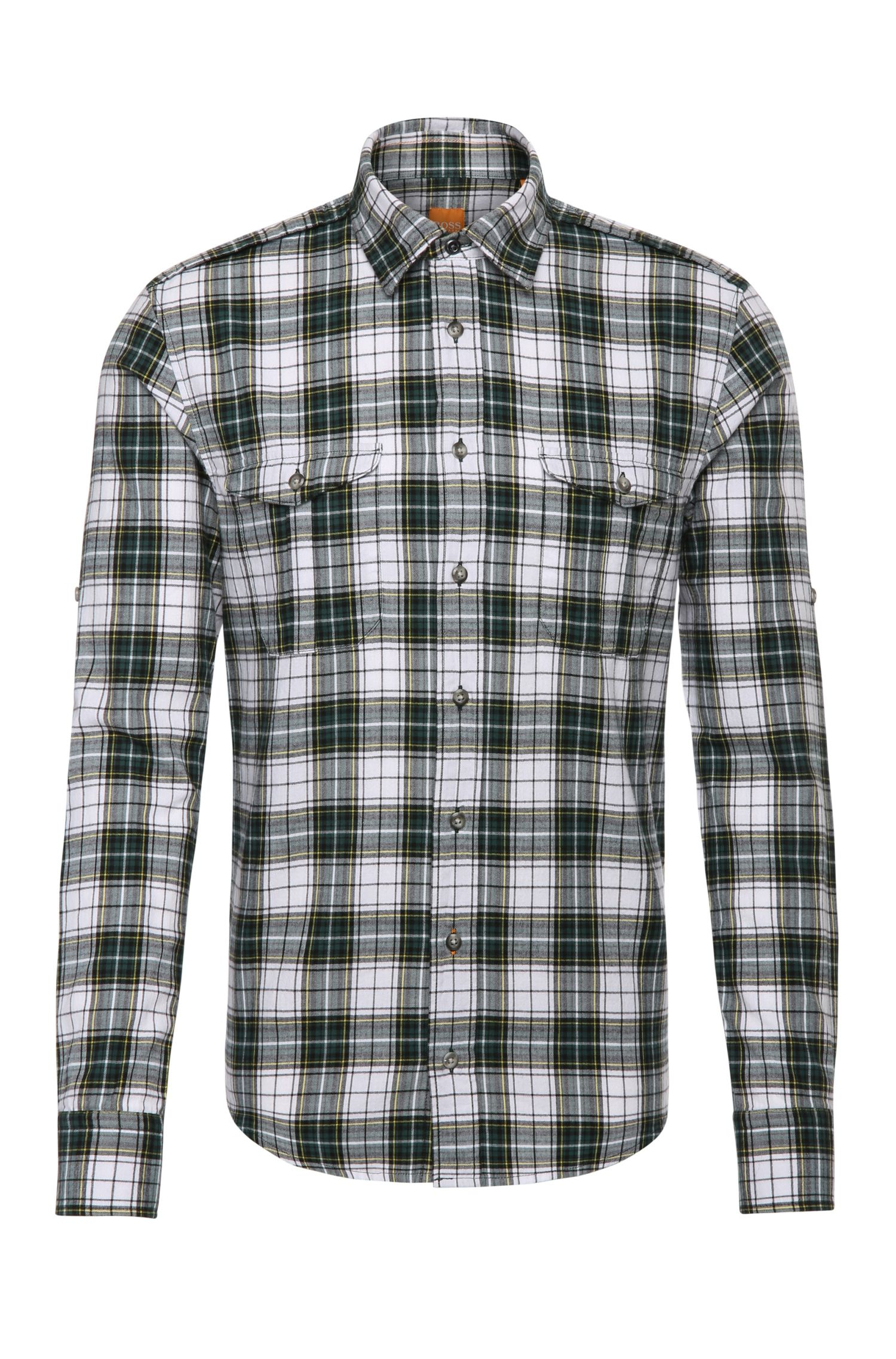 Slim-fit check shirt in cotton: 'CadettoE'