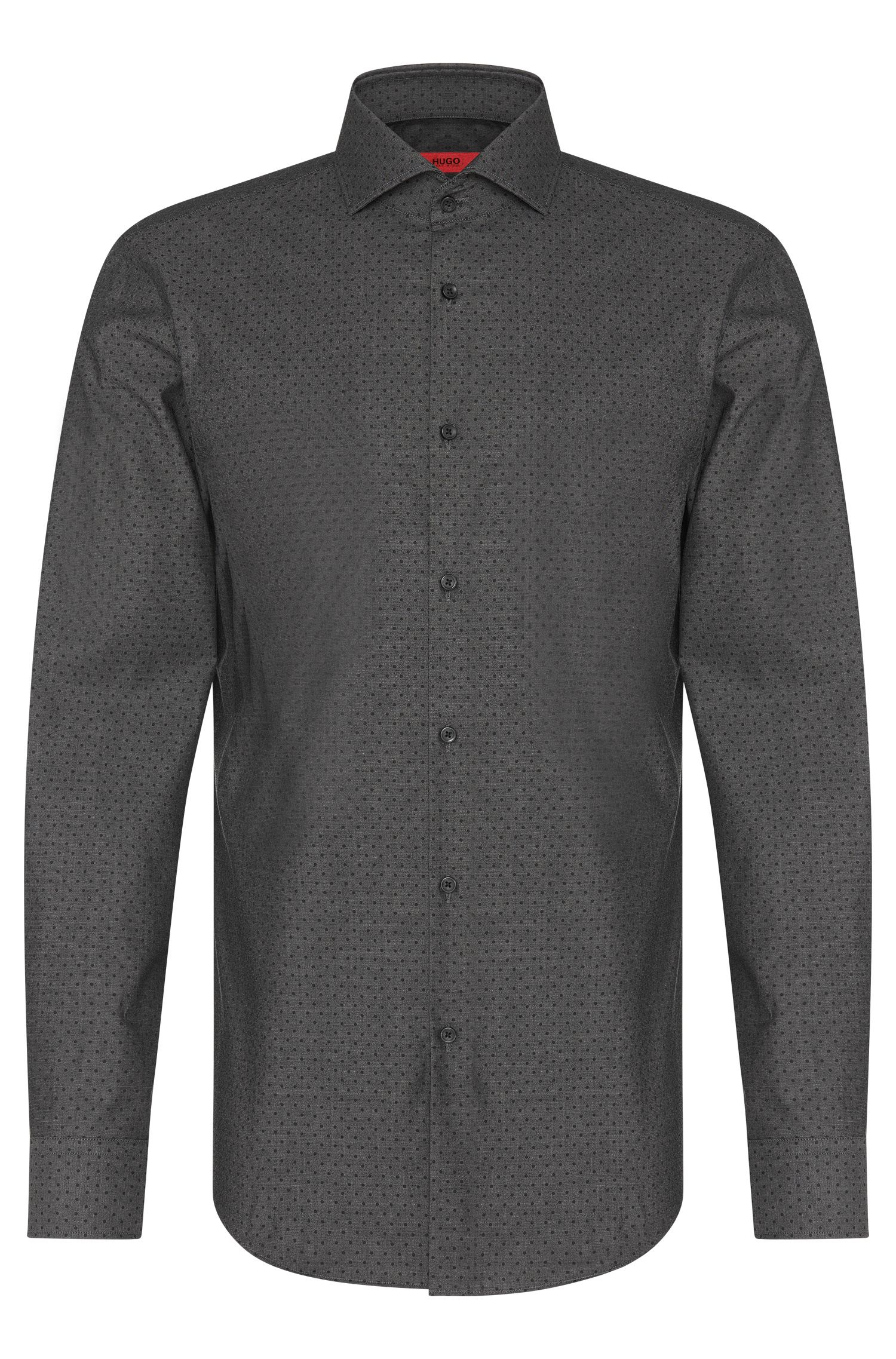 Chemise Slim Fit à pois en coton stretch : « C-Jason »