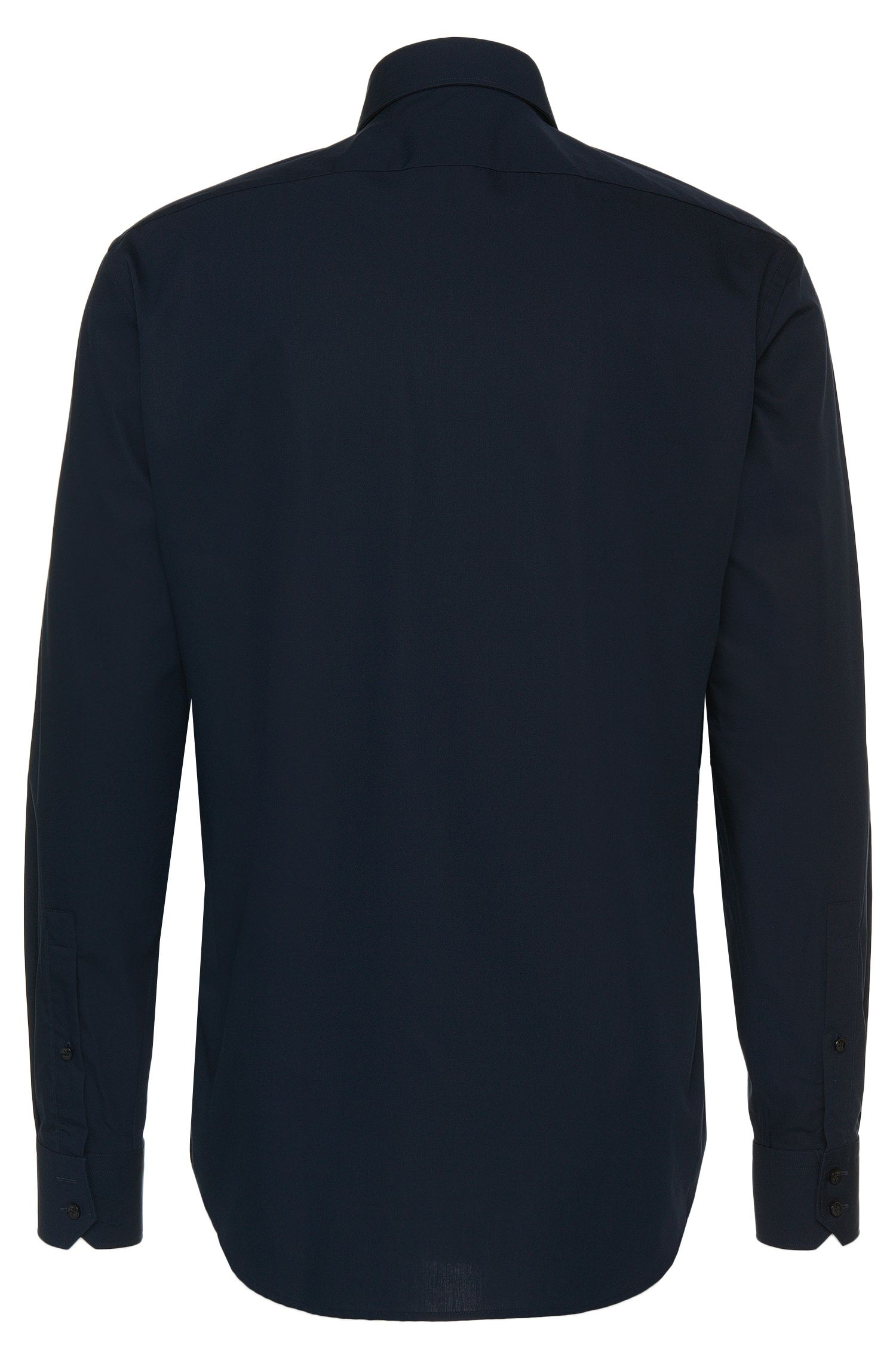 Chemise Regular Fit en coton dotée d'une patte de boutonnage invisible: «C-Ernie»