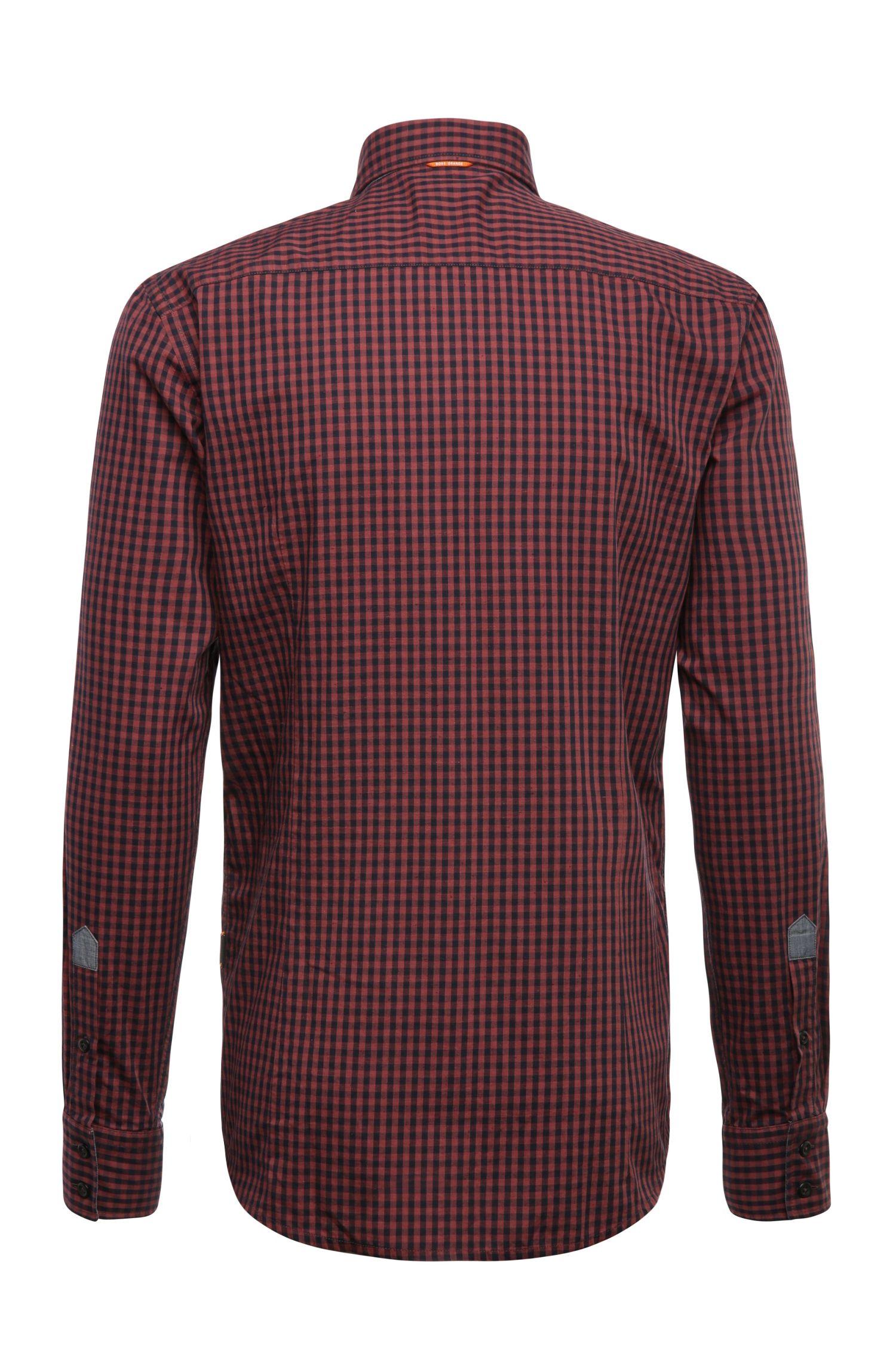 Slim-Fit Karo-Hemd aus Baumwolle: ´EslimE_1`