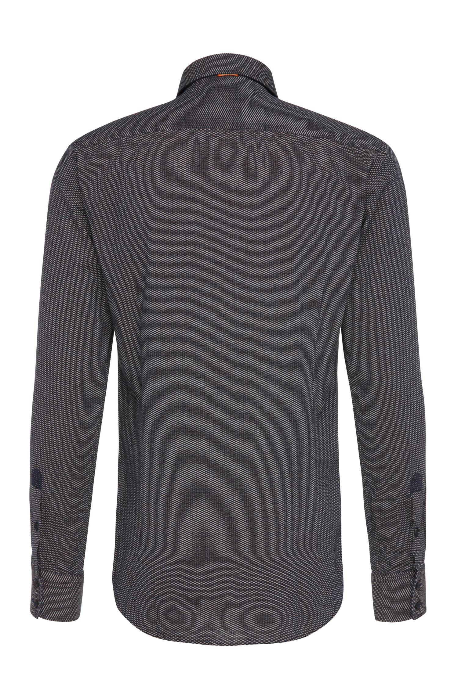 Slim-fit overhemd van katoen met dessin: 'EslimE_1'