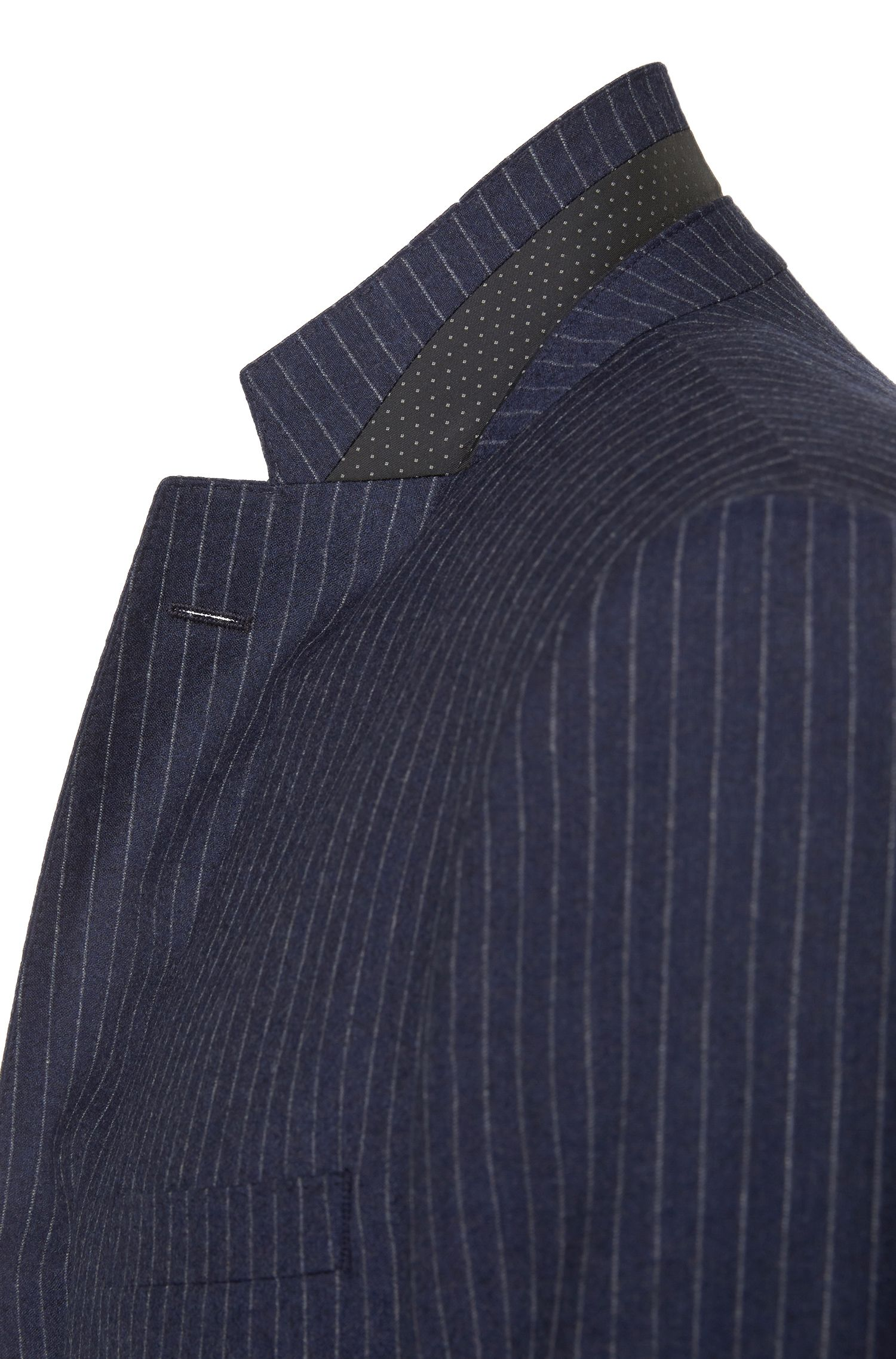 Costume Regular Fit en laine vierge à rayures fines: «C-Jeys1/C-Shaft1»