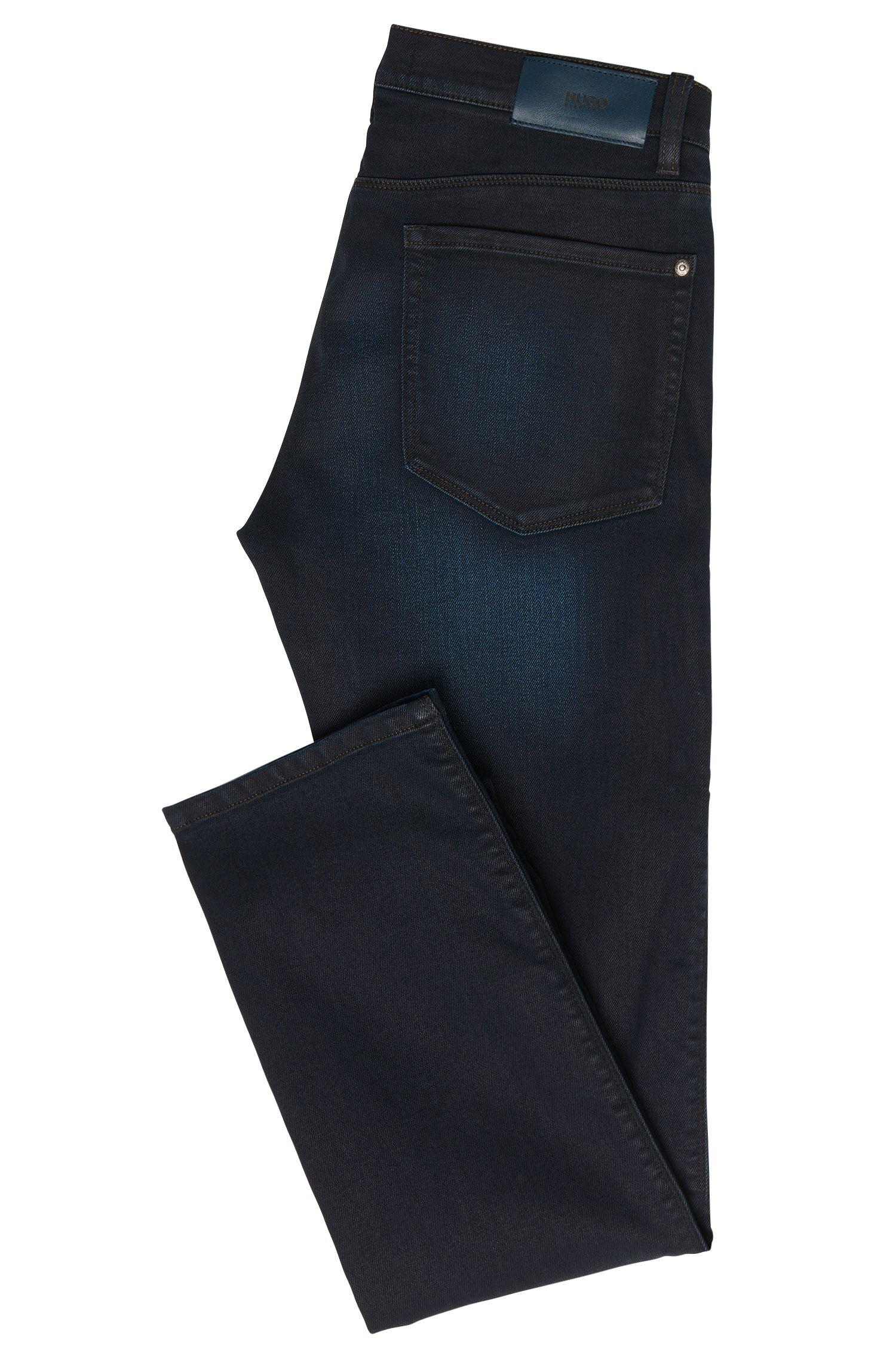 Slim-Fit Jeans aus elastischem Baumwoll-Mix mit dezenter Waschung: 'HUGO 708'