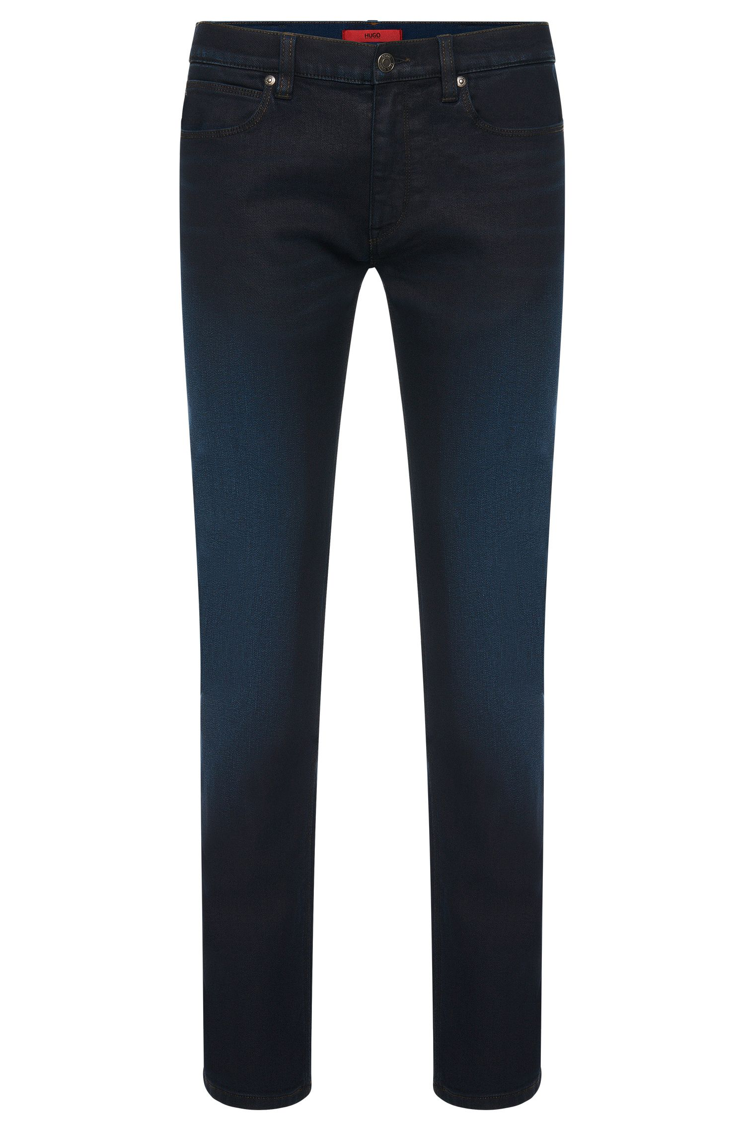 Slim-fit jeans in stretchy cotton blend with subtle wash: 'HUGO 708'