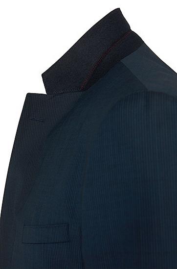 Regular-Fit Anzug aus Schurwolle im Nadelstreifen-Dessin: 'C-Jeffrey/C-Simmons', Blau
