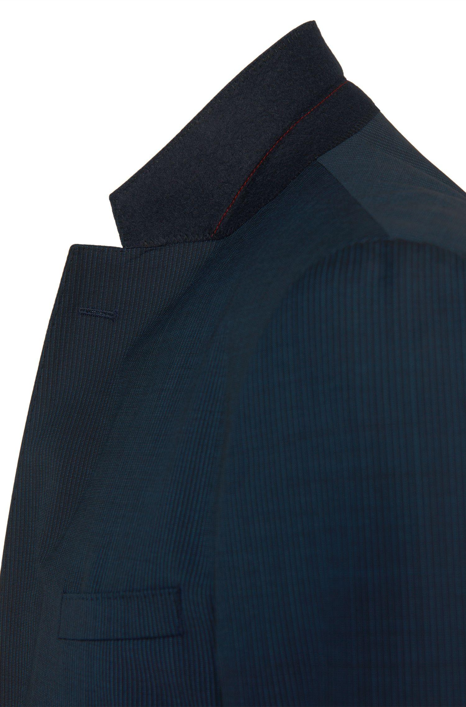 Costume Regular Fit en laine vierge agrémentée d'un motif à rayures tennis: «C-Jeffrey/C-Simmons»