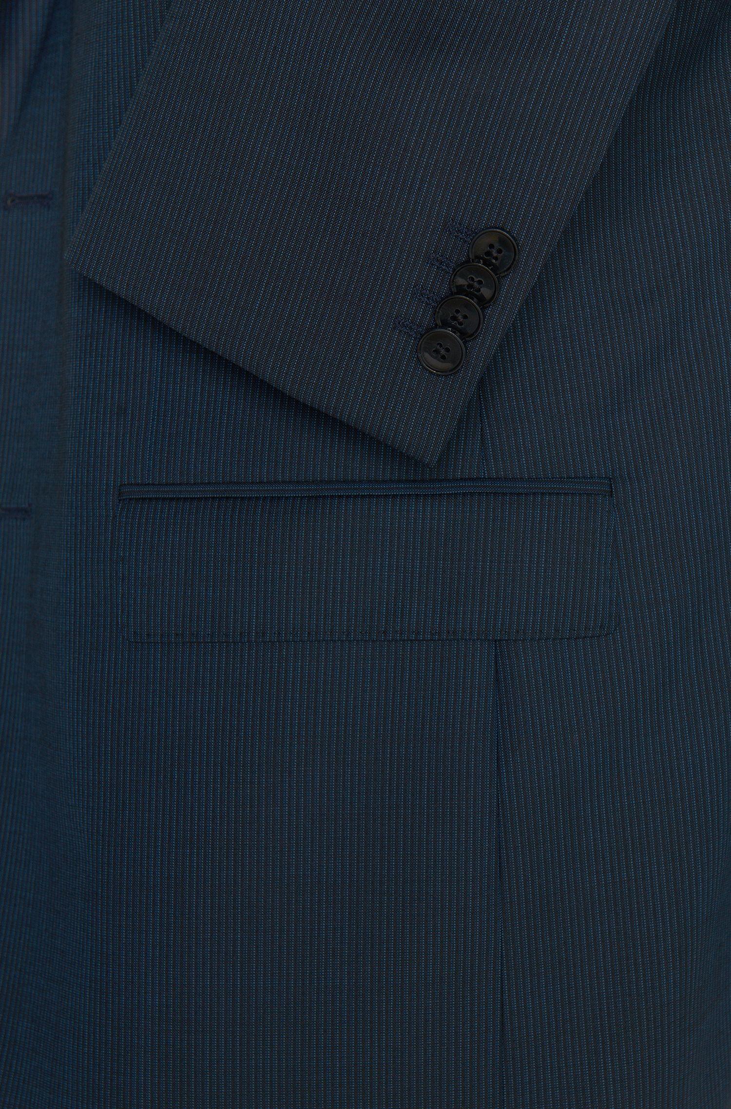 Regular-Fit Anzug aus Schurwolle im Nadelstreifen-Dessin: 'C-Jeffrey/C-Simmons'