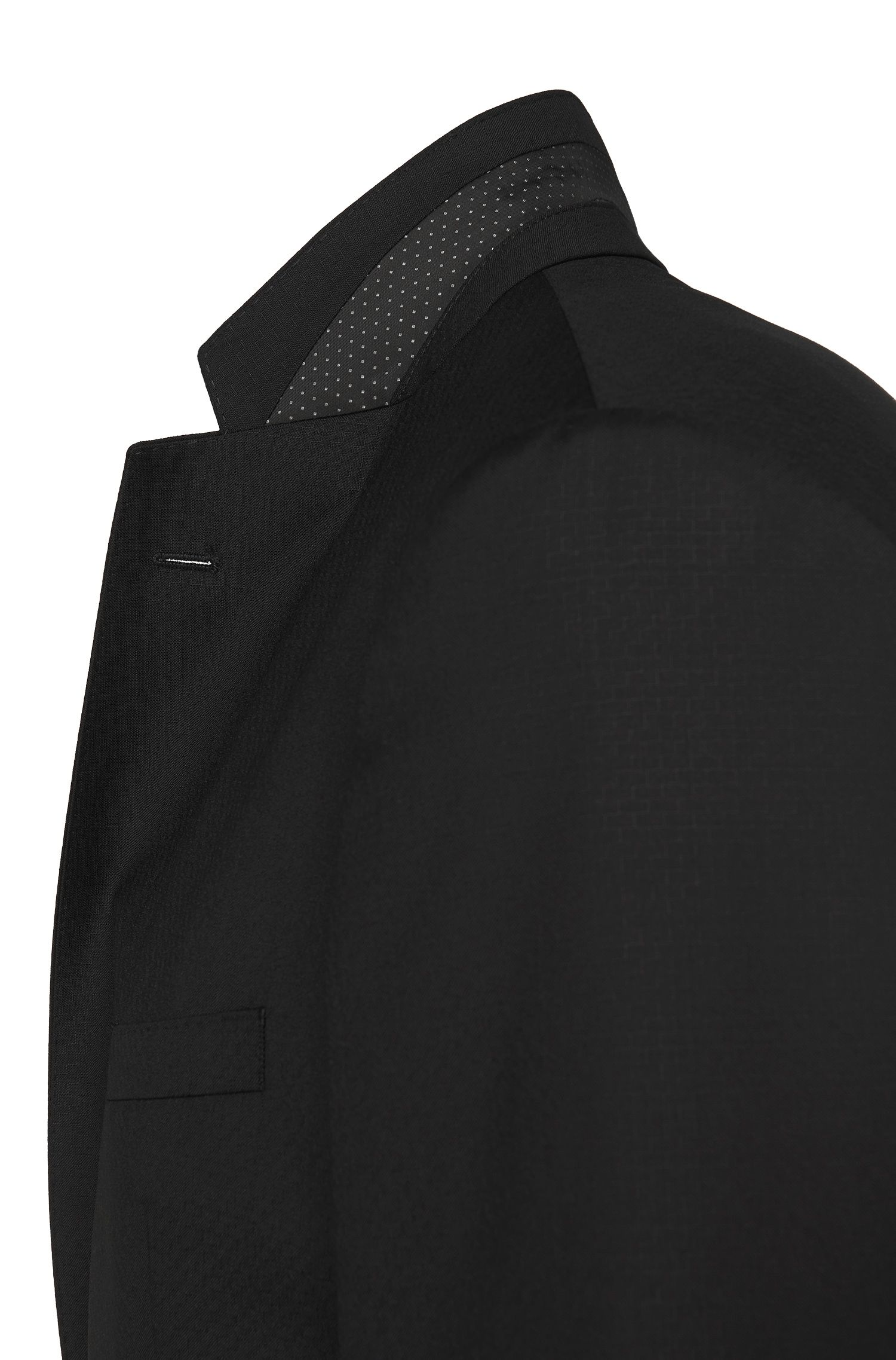 Veste de costume Regular Fit en laine vierge ornée d'un fin motif structuré: «C-Jeys1/C-Shaft1»