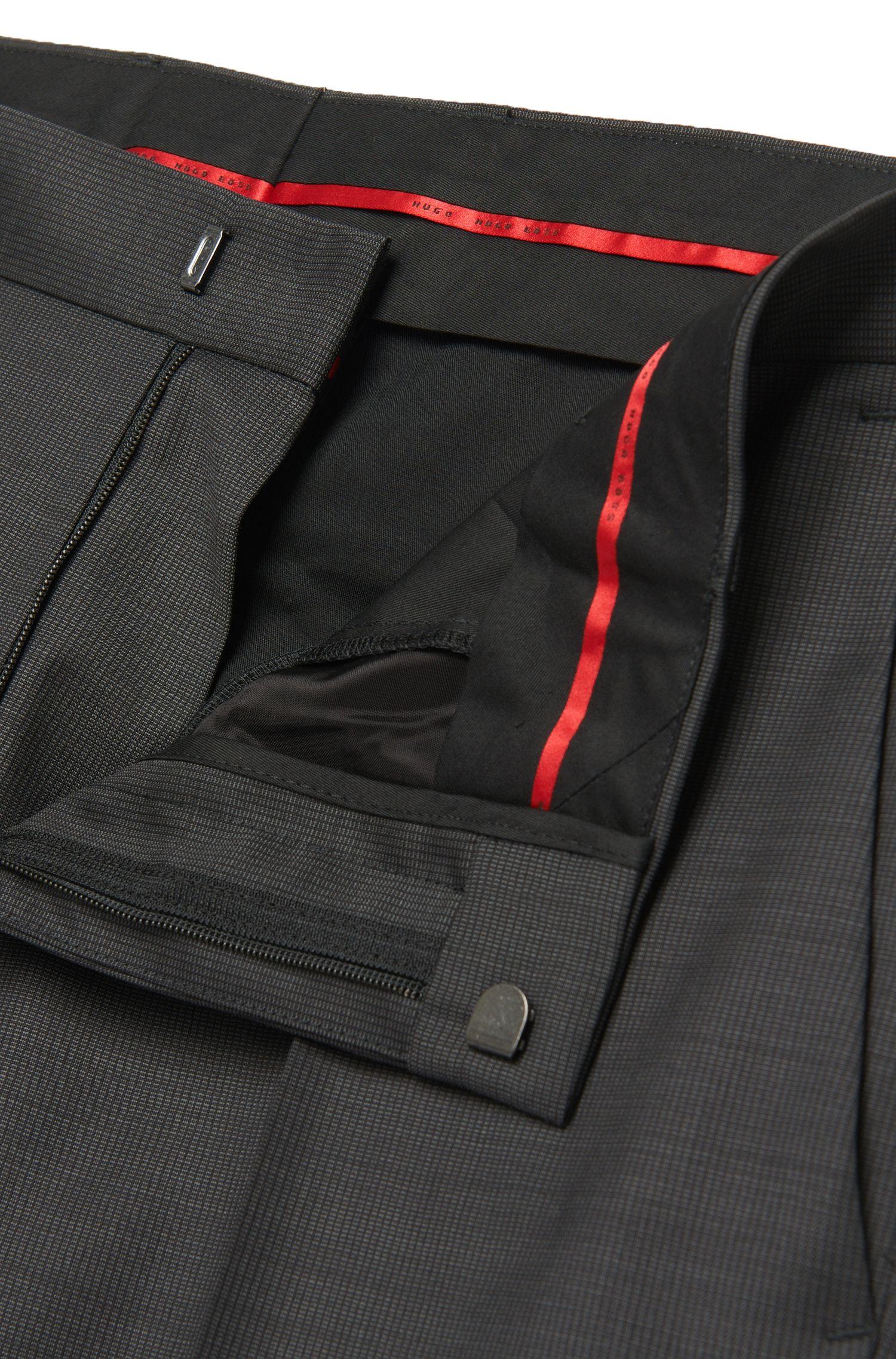 Fein gemusterter Slim-Fit Anzug aus Schurwolle: 'C-Huge1/C-Genuis'