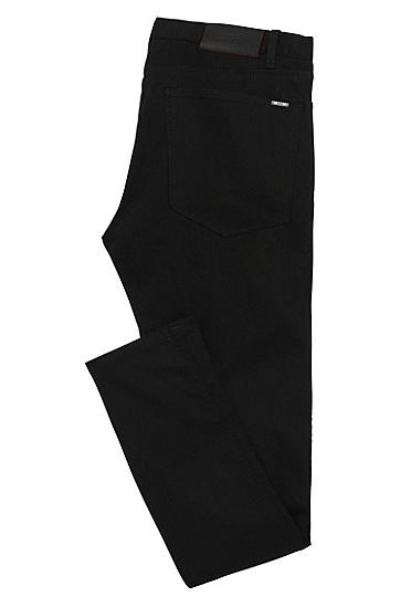 Skinny-Fit Jeans aus elastischem Baumwoll-Mix: 'HUGO 734', Schwarz