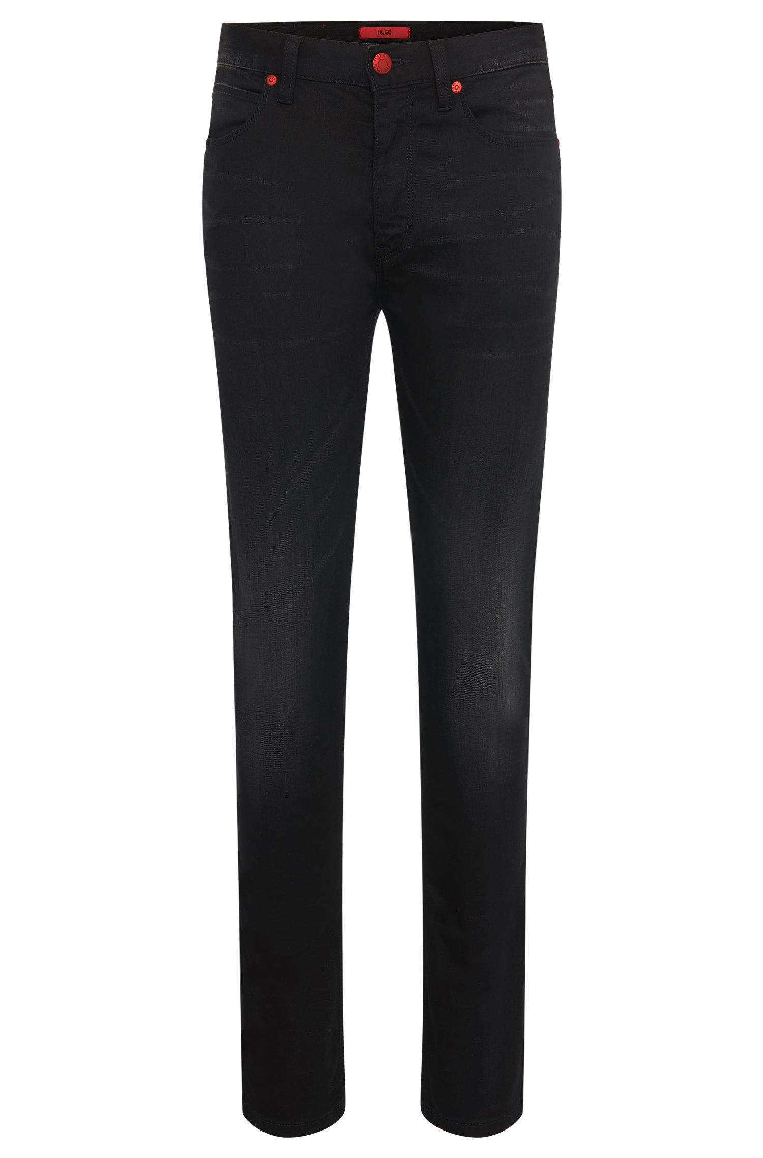Skinny-Fit Jeans aus Baumwoll-Mix: 'HUGO 734'