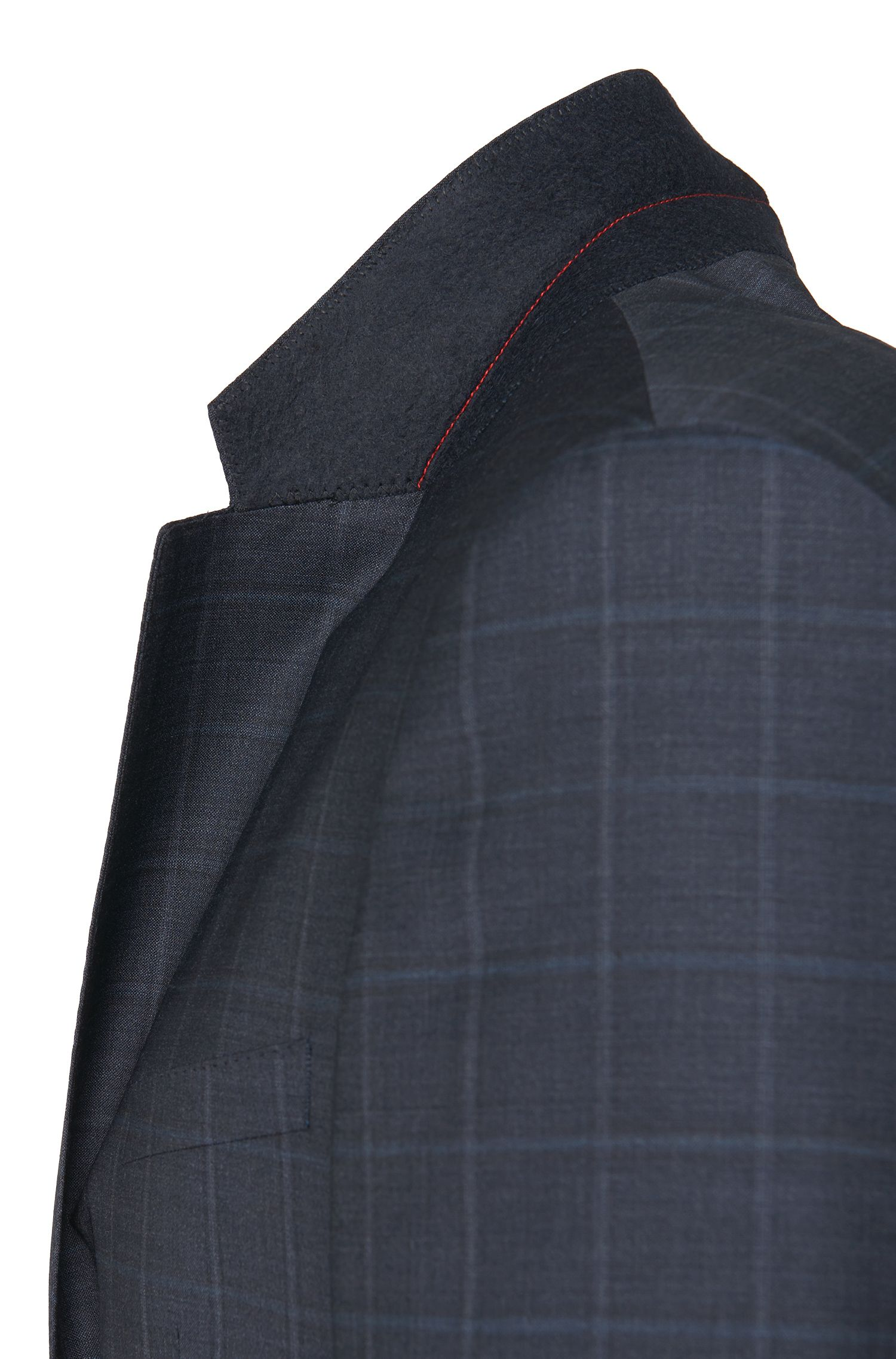 Costume Slim Fit à carreaux en pure laine vierge: «C-Huge1/C-Genius»